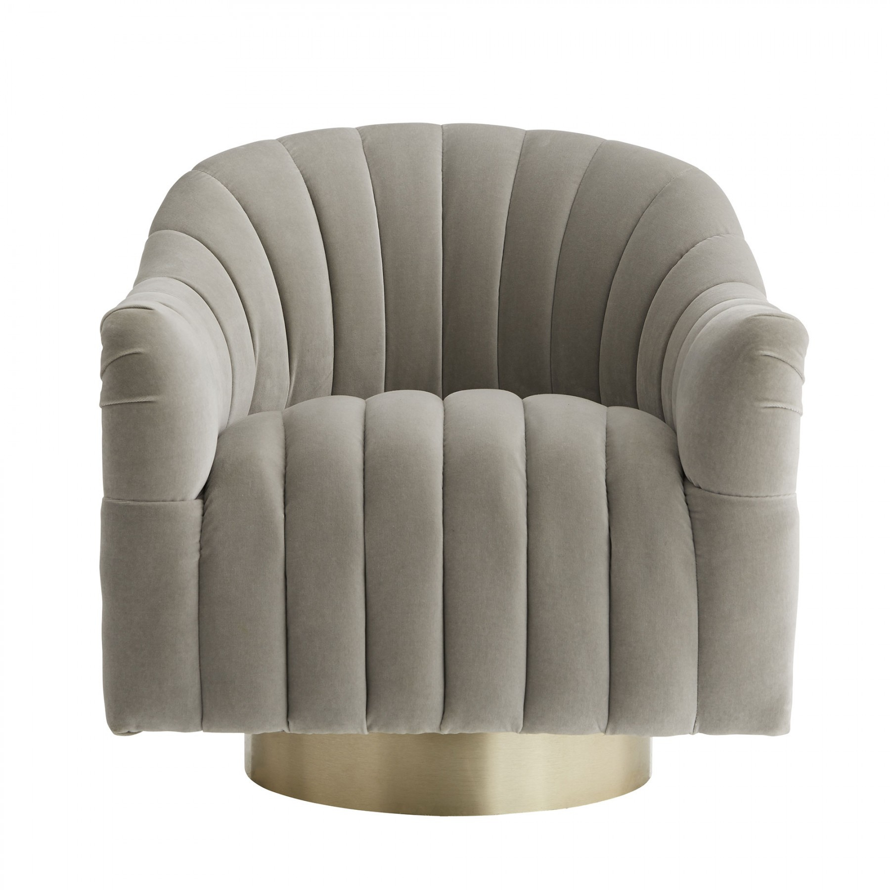 Springsteen Chair Flint Velvet Champagne Swivel In Harbor Grey Swivel Accent Chairs (Image 18 of 20)