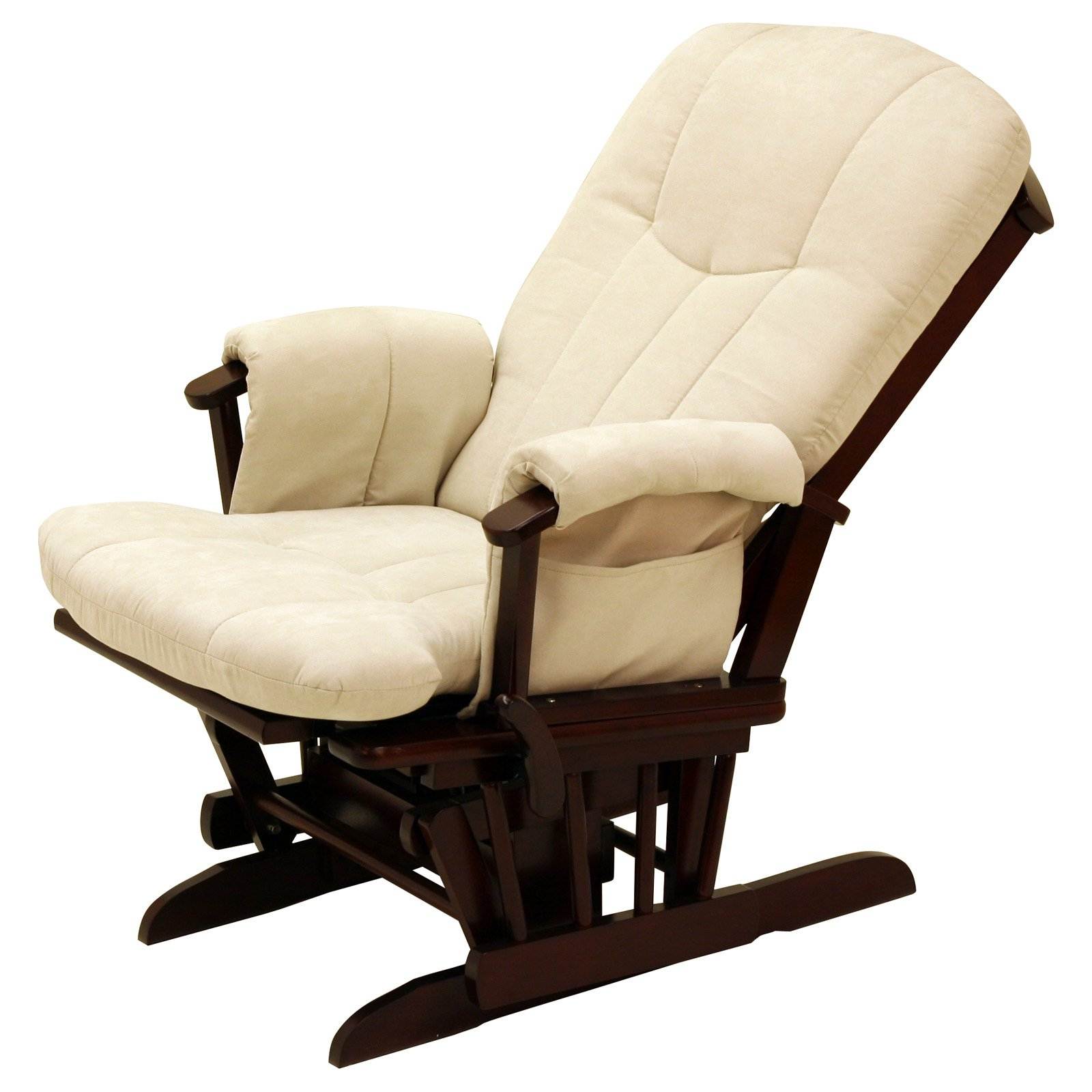 Storkcraft Deluxe Reclining Glider Rocker – Cherry Beige – Walmart In Katrina Beige Swivel Glider Chairs (Image 15 of 20)