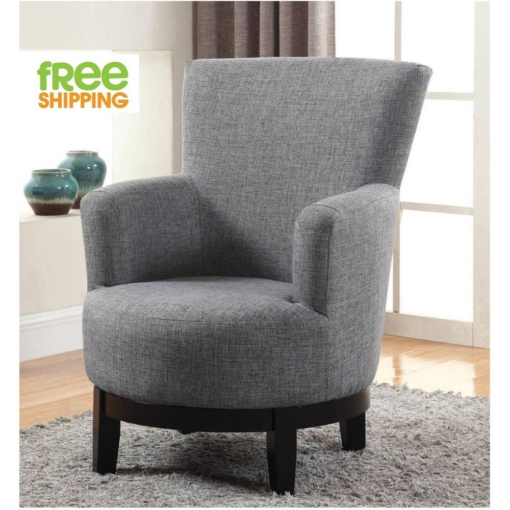 Swivel Accent Chair Upholstered Comfortable Elegant Armchair Solid With Regard To Aidan Ii Swivel Accent Chairs (Image 17 of 20)