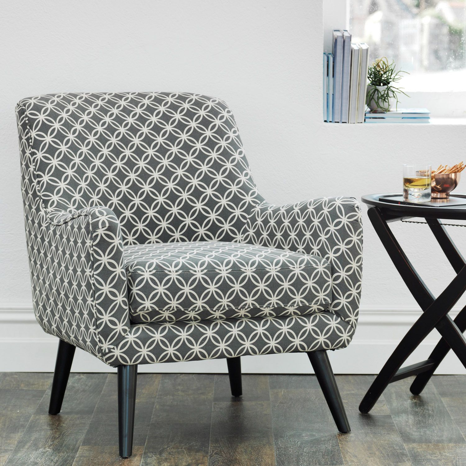 The Lucy Chair Grey & Cream | Meadows & Byrne Pertaining To Lucy Dark Grey Sofa Chairs (View 16 of 20)