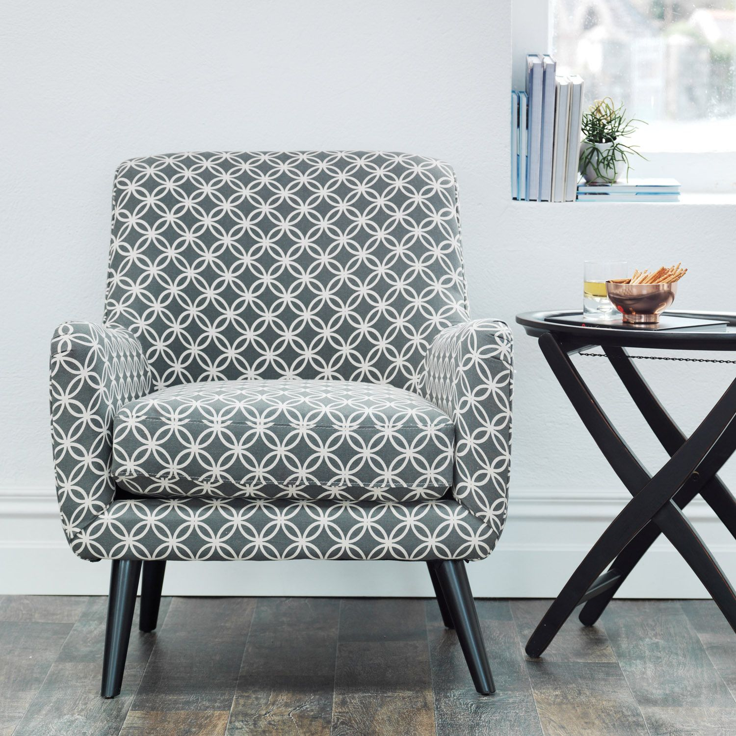 The Lucy Chair Grey & Cream | Meadows & Byrne Pertaining To Lucy Grey Sofa Chairs (Image 19 of 20)