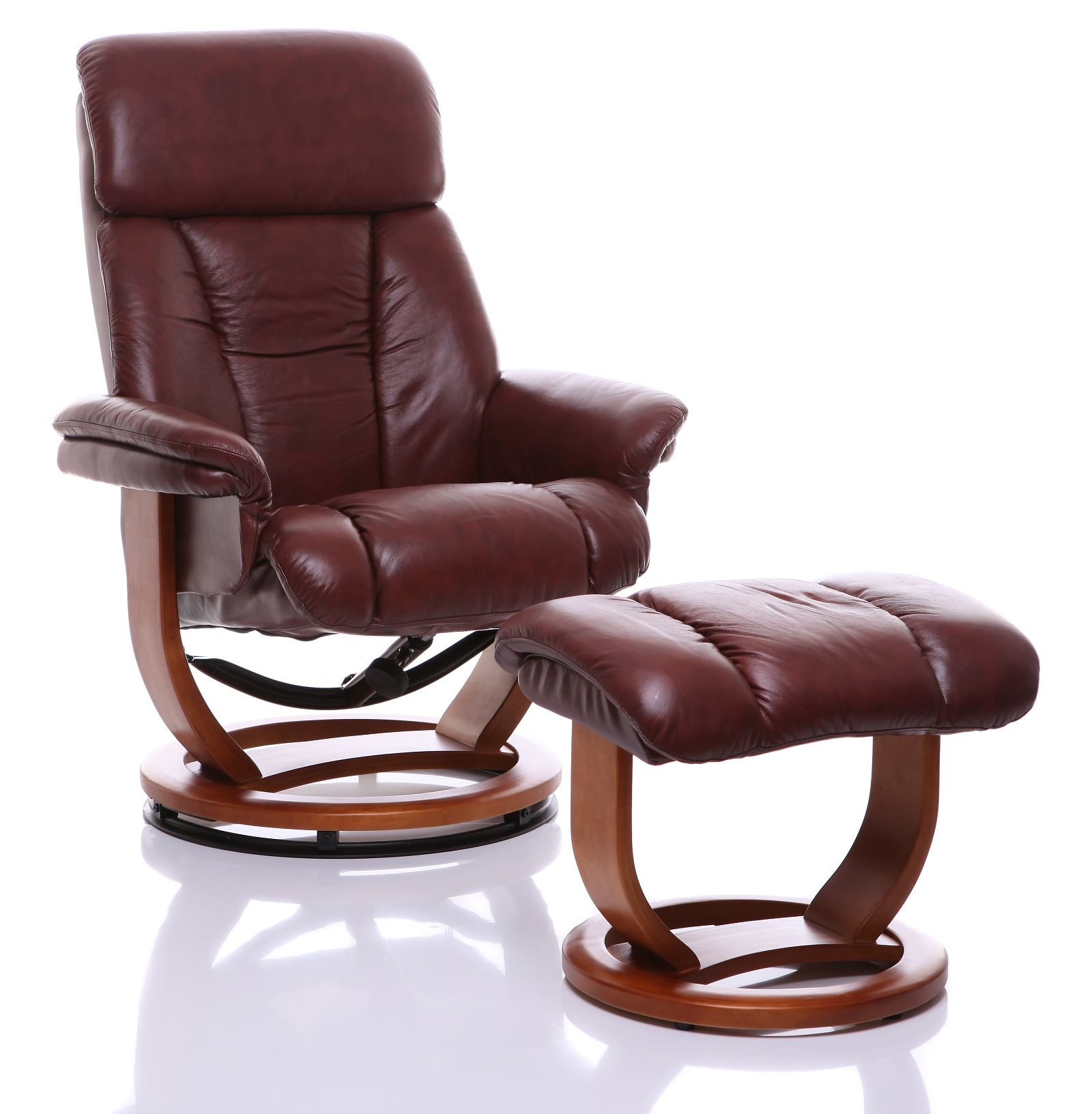 The Saigon Genuine Leather Recliner Swivel Chair Footstool Reclining In Amala Bone Leather Reclining Swivel Chairs (View 13 of 20)