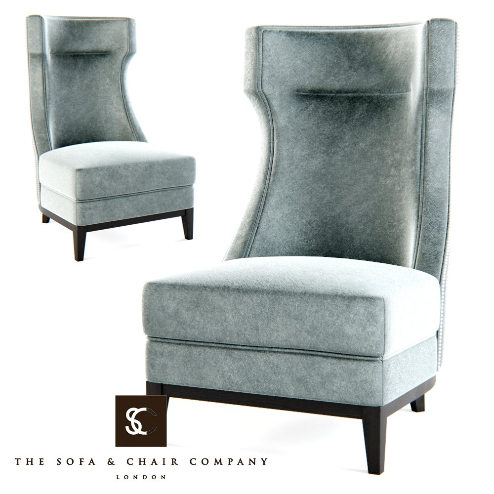 The Sofa Chair Company – Parker Armchair 3D Model In Chair 3Dexport For Parker Sofa Chairs (Image 20 of 20)