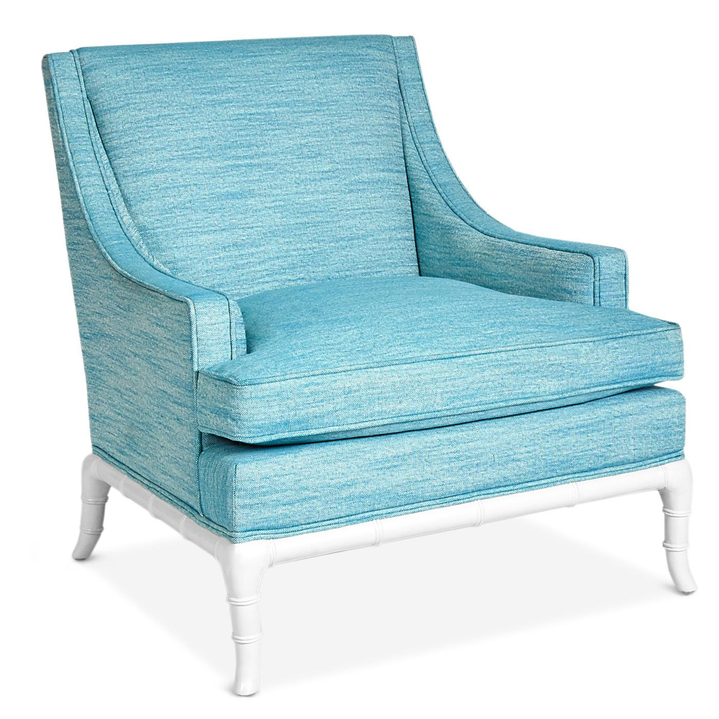 This Chic Teal Lounge Chair Is From Jonathan Adler's Chippendale With Regard To Alder Grande Ii Sofa Chairs (Image 20 of 20)
