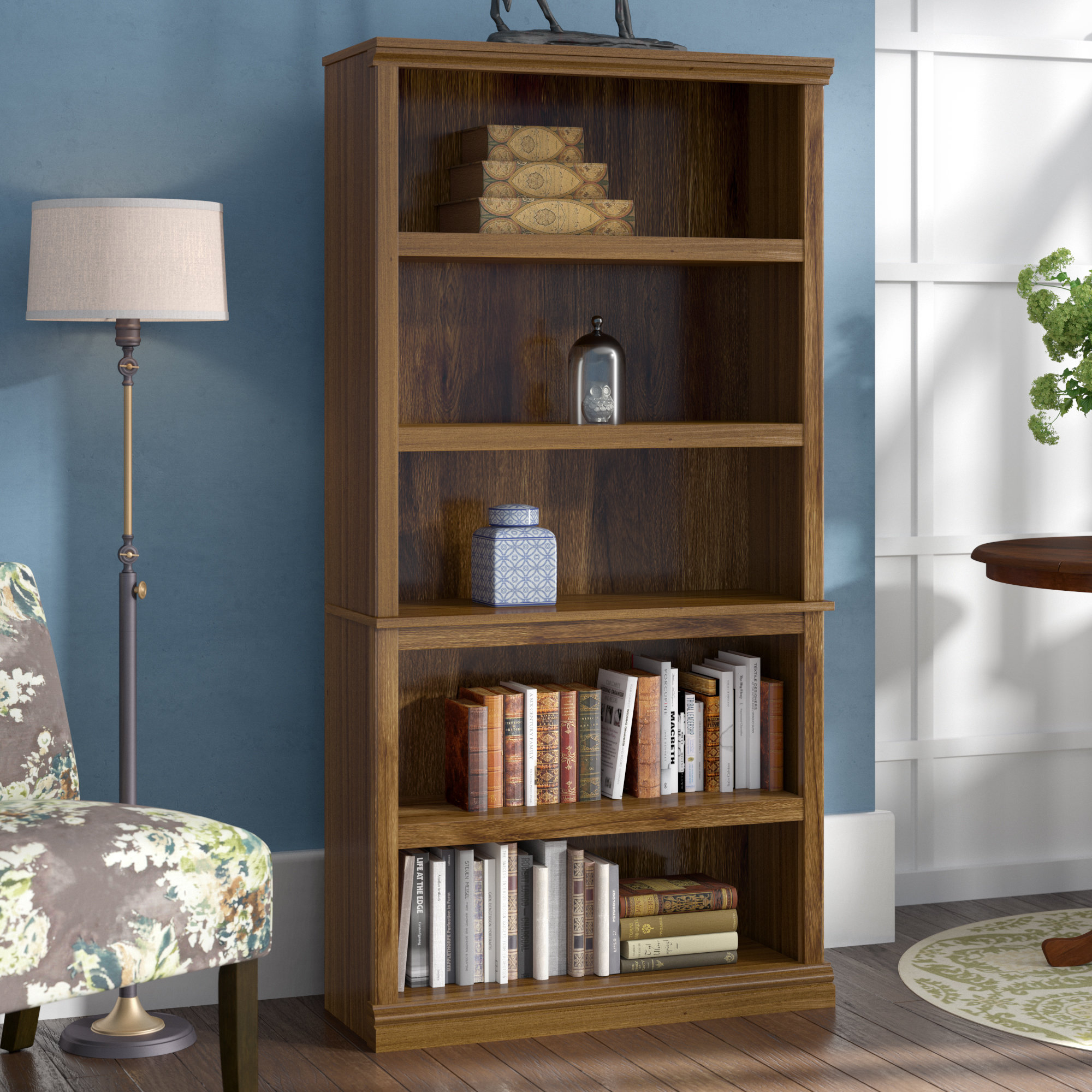 Three Posts Abigail Standard Bookcase & Reviews | Wayfair Inside Abigail Ii Sofa Chairs (View 20 of 20)