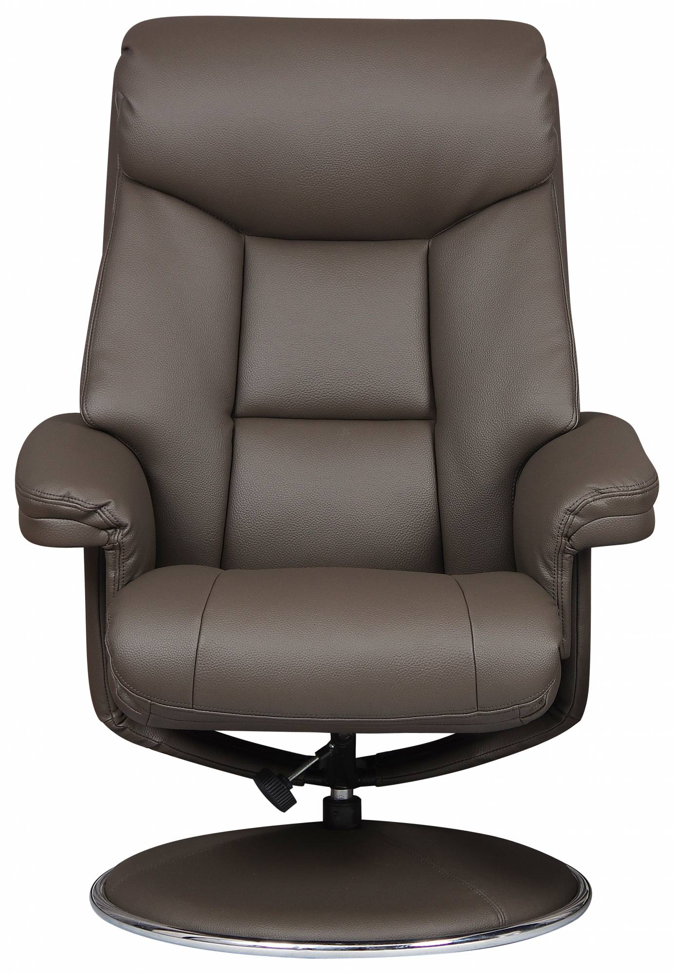 Toulouse – Swivel Recliner Chair & Footstool Charcoal Faux Leather Intended For Charcoal Swivel Chairs (Image 20 of 20)