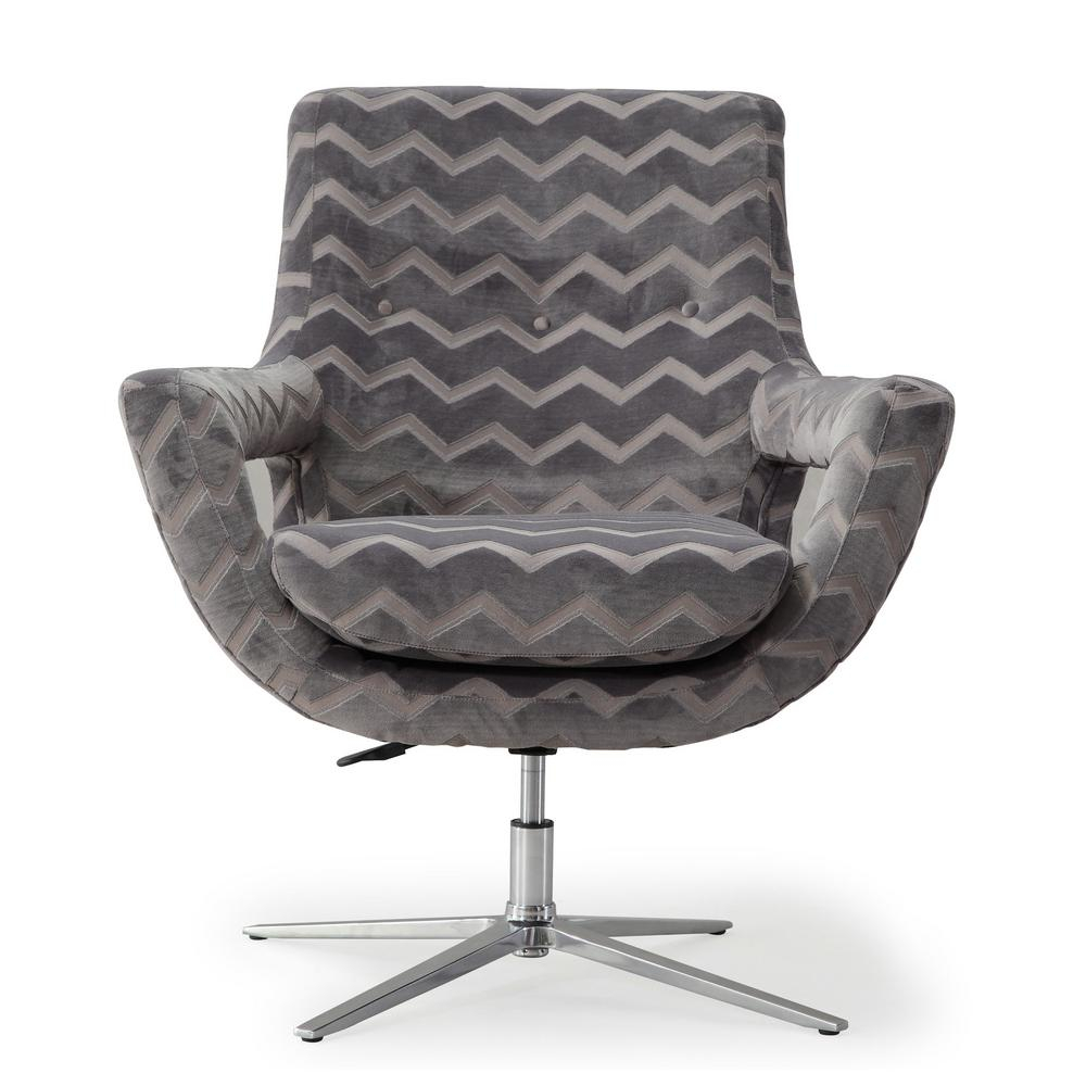 Tov Furniture Fifi Grey Swivel Chair Tov S6118 – The Home Depot For Grey Swivel Chairs (Image 19 of 20)
