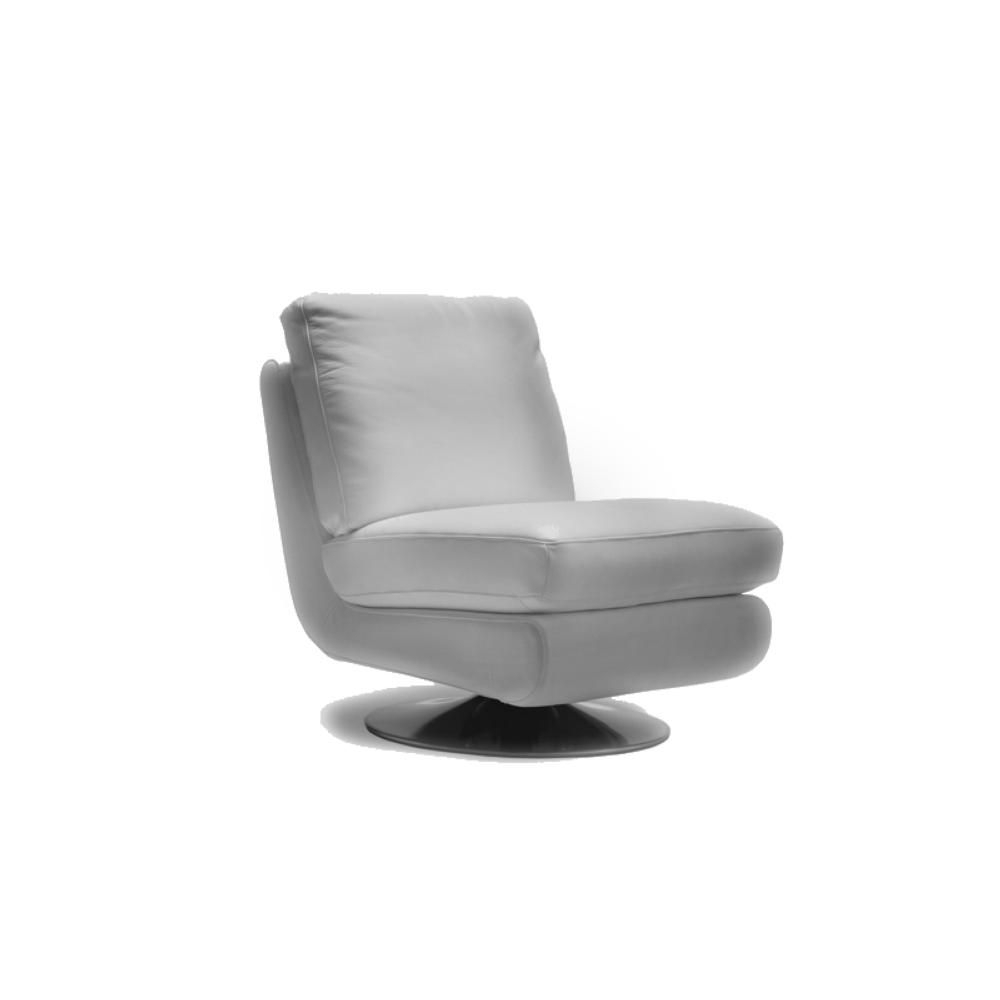 Vancouver Modern Furniture – Gina Leather Swivel Chair Grey – Moe's Within Gina Grey Leather Sofa Chairs (Image 19 of 20)