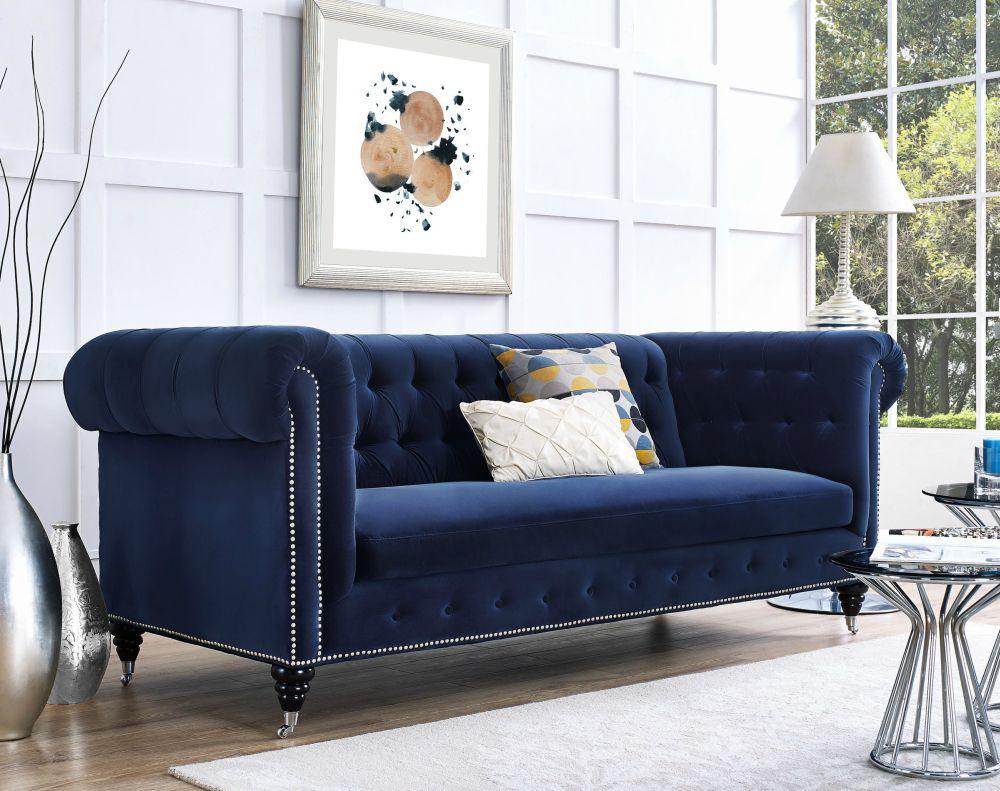 Velvet Sofas Put Your Living Room Immediately Cool Blue Chesterfield In Mansfield Graphite Velvet Sofa Chairs (Image 20 of 20)