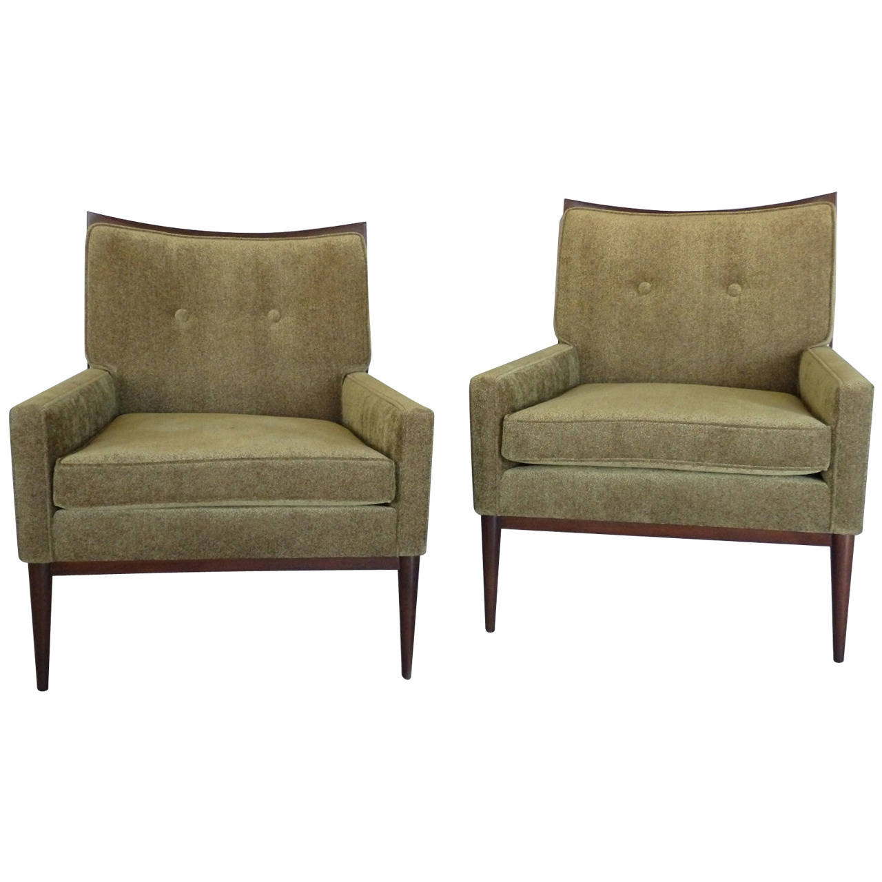 Via: 1Stdibs Regarding Bailey Linen Flare Arm Wing Skirted Swivel Gliders (Photo 13 of 20)
