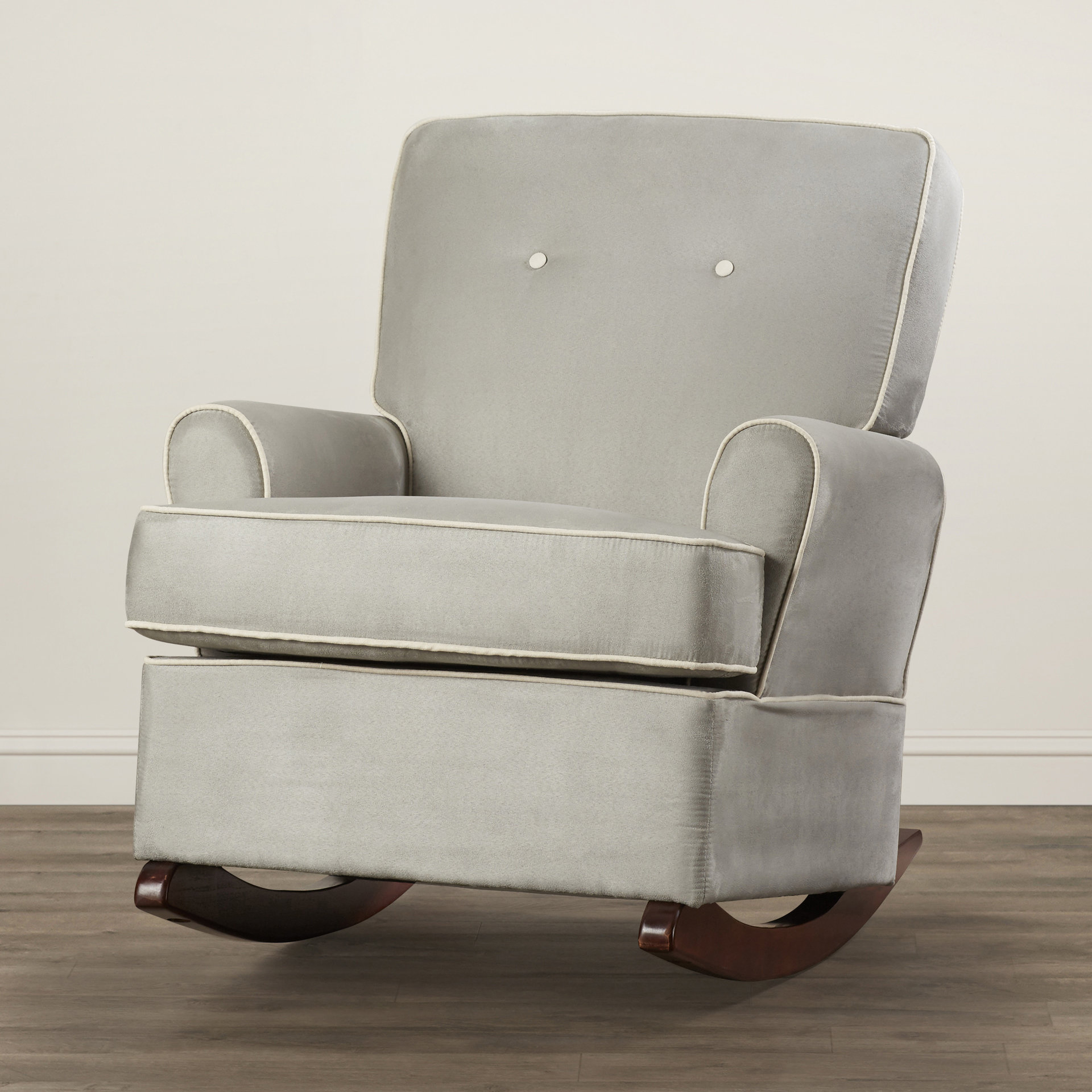 Viv + Rae Shaylee Rocker & Reviews | Wayfair In Bailey Mist Track Arm Skirted Swivel Gliders (Image 20 of 20)
