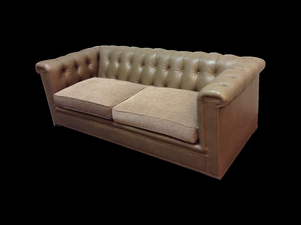 Walter Leather Sofa Fresh Hickory Chair Kent Tufted Leather Sofa On In Walter Leather Sofa Chairs (Image 19 of 20)