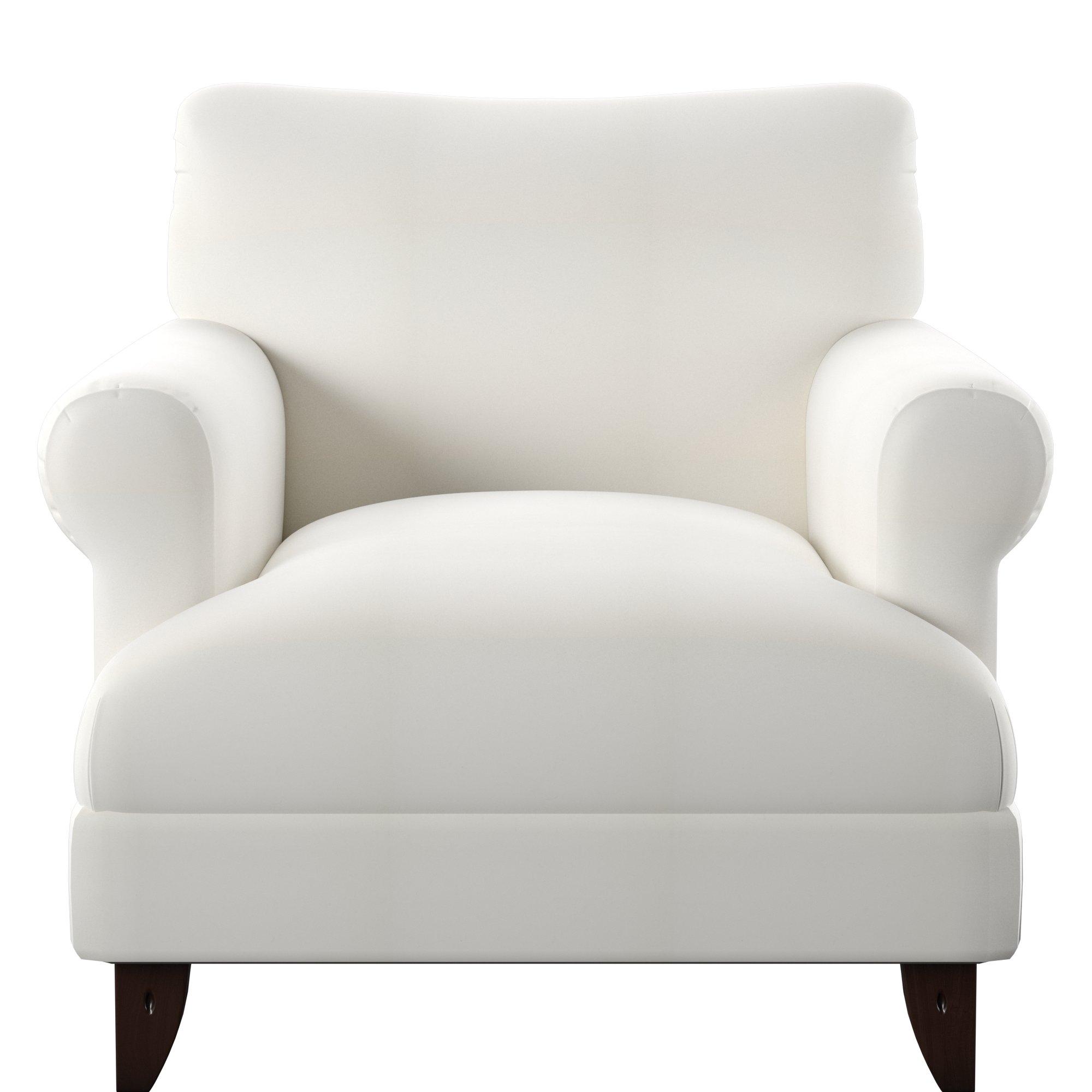 Wayfair Custom Upholstery™ Allie Armchair & Reviews | Wayfair With Allie Dark Grey Sofa Chairs (Image 20 of 20)
