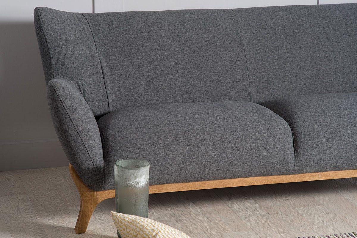 Wesley Dark Grey Three Seater Large Sofa | Bella Casa London Pertaining To London Dark Grey Sofa Chairs (View 12 of 20)