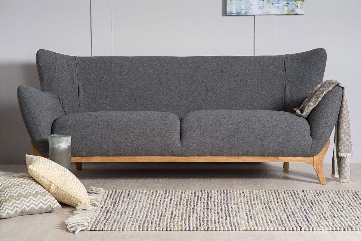 Wesley Dark Grey Three Seater Large Sofa | Bella Casa London With London Dark Grey Sofa Chairs (View 5 of 20)
