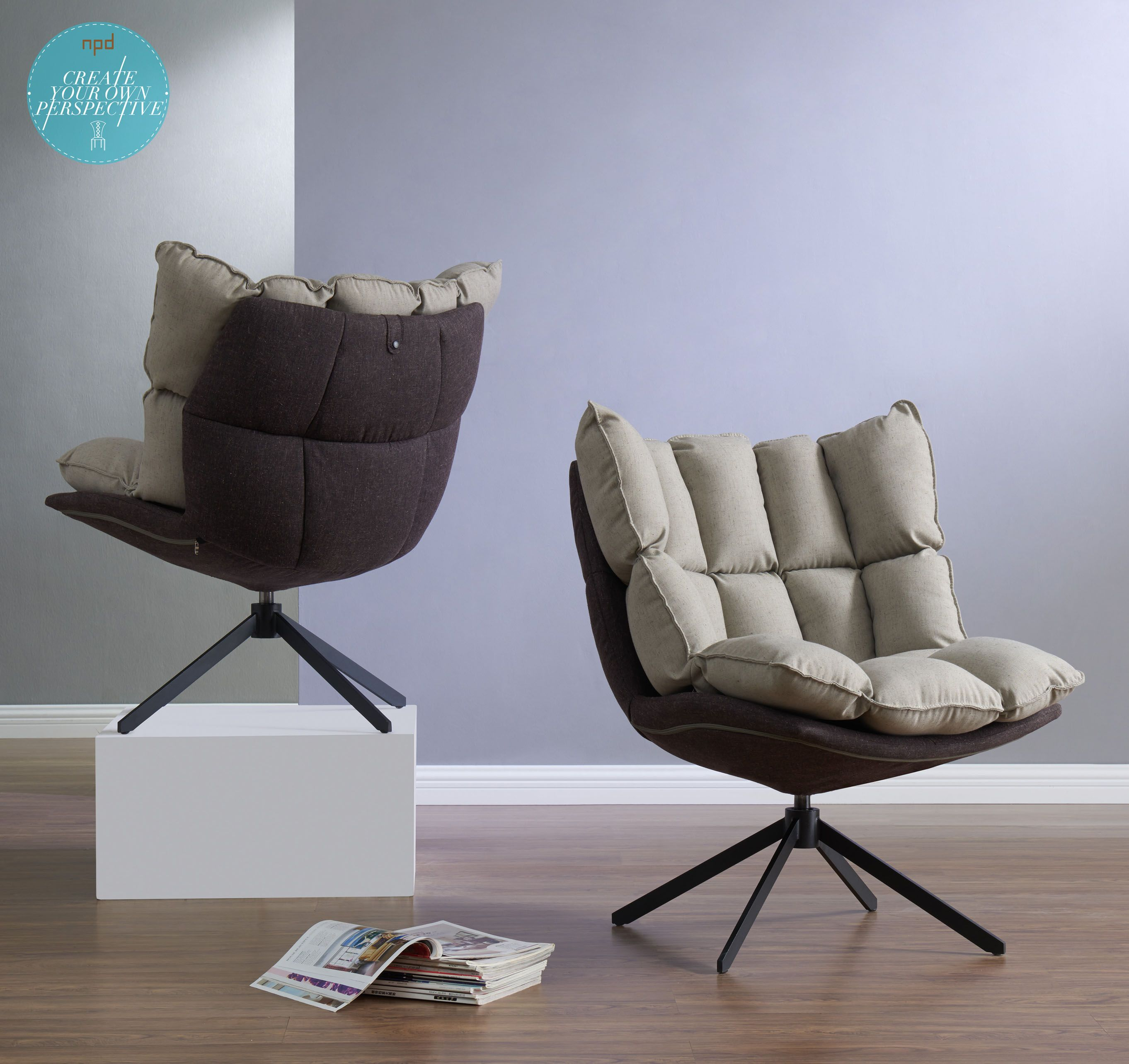 With Its Space Age Profile, The Dillon Chair Also Swivels And And Throughout Sadie Ii Swivel Accent Chairs (View 14 of 20)