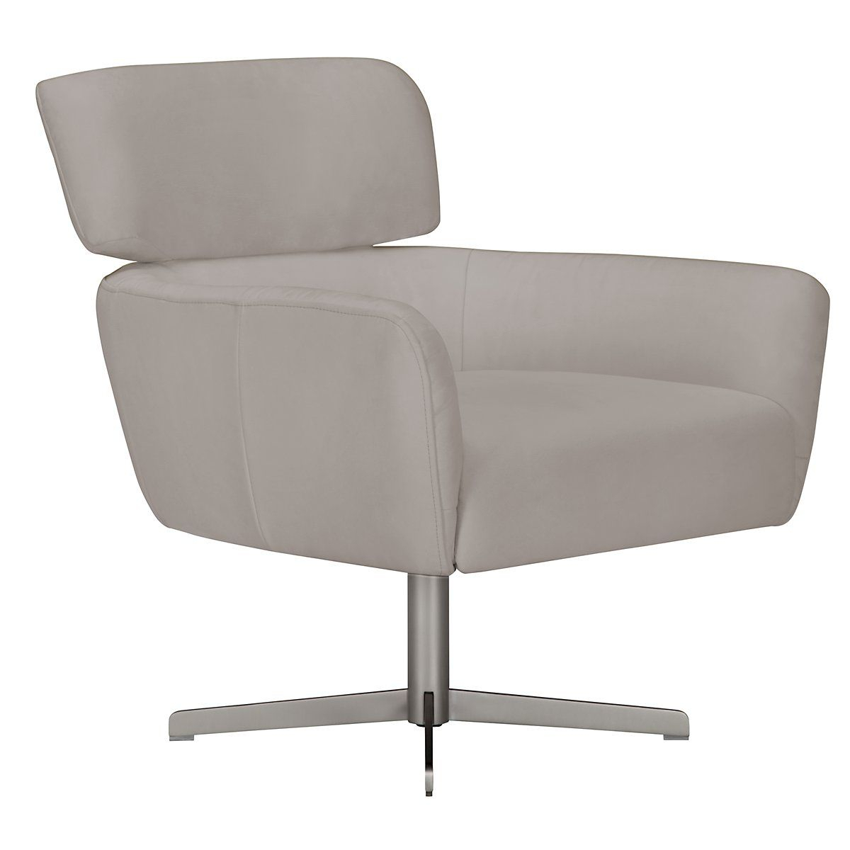 Wynn Light Gray Microfiber Swivel Accent Chair | Living Room With Regard To Aidan Ii Swivel Accent Chairs (Image 20 of 20)