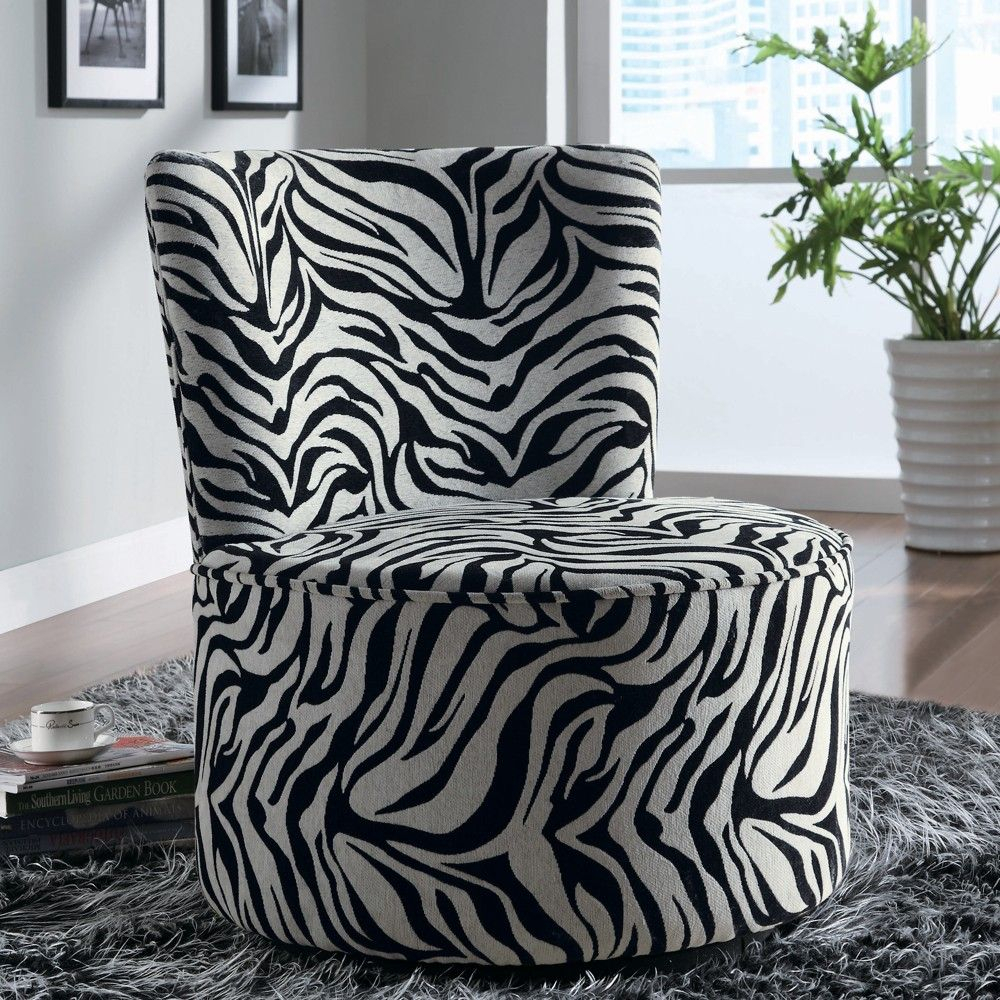 Zebra Striped Swivel Chair – Linen Chest | Home Decor | Pinterest Pertaining To Circuit Swivel Accent Chairs (Image 20 of 20)