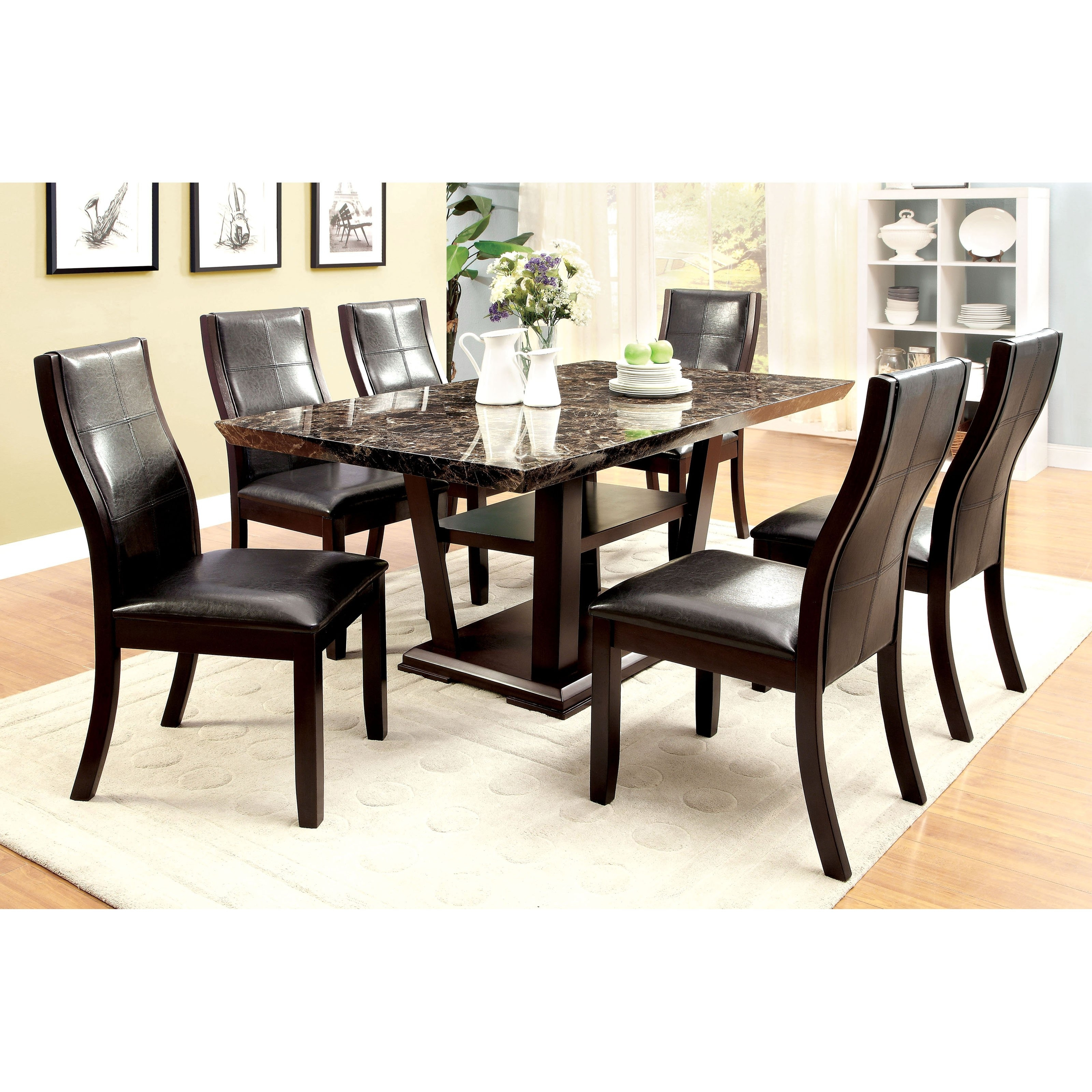 25 Inspirations Of Marble Dining Tables Sets Inside Most Current Pratiksha Sonoma 5 Piece Dining Sets (View 4 of 20)