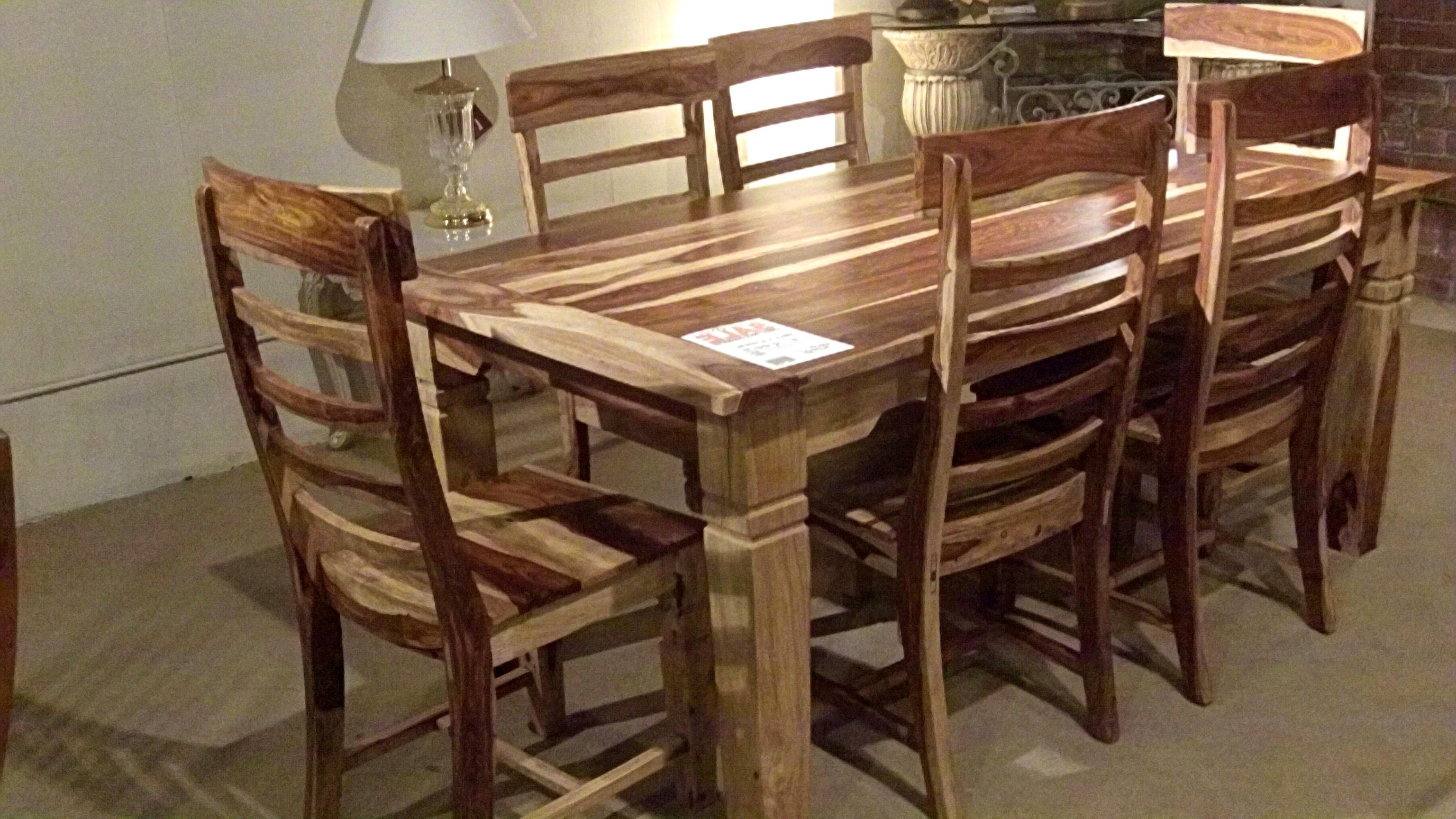 25 Photos Sheesham Wood Dining Chairs Throughout Most Recent Pratiksha Sonoma 5 Piece Dining Sets (Image 6 of 20)