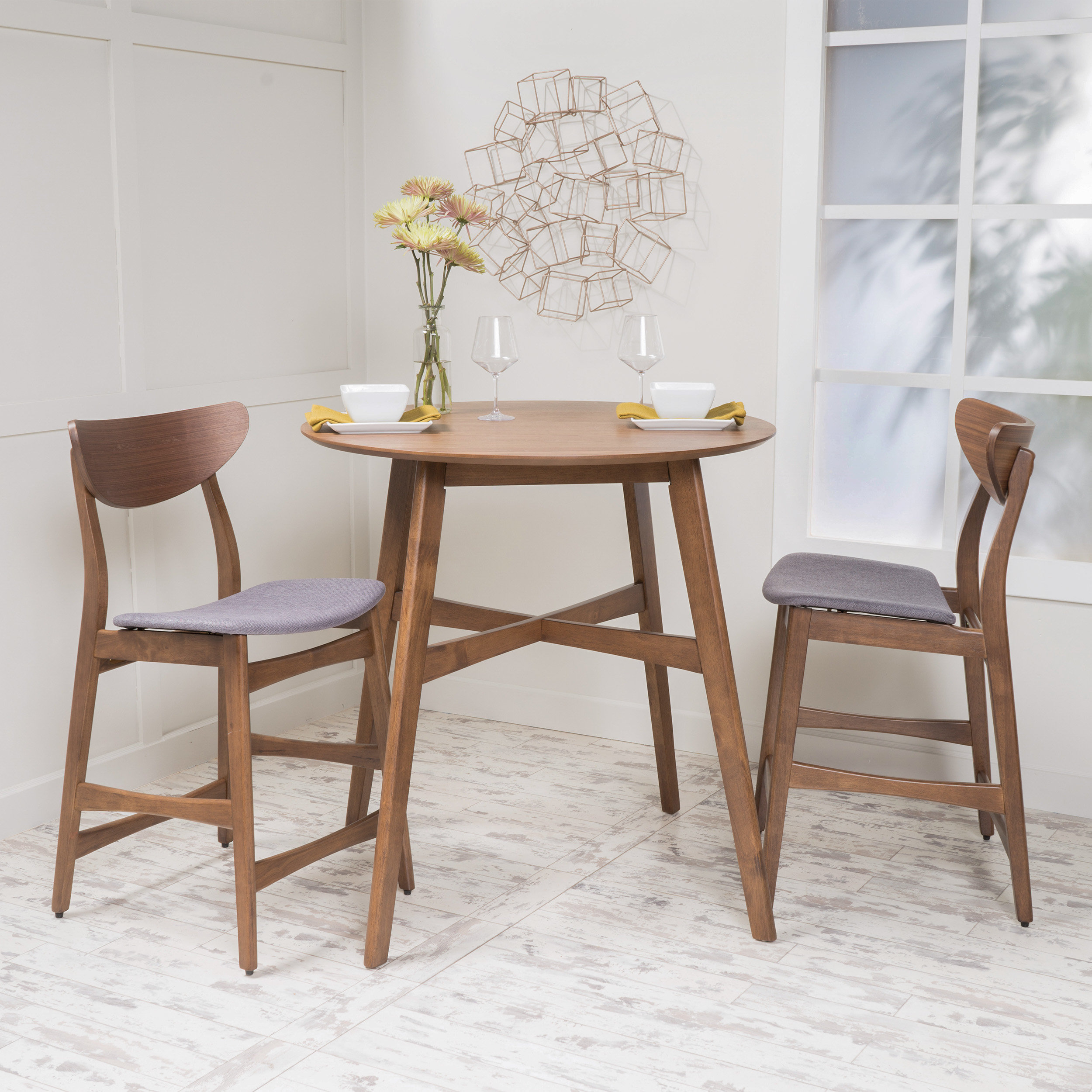 3 Piece Dining Set Counter Height – Ingamecity – Intended For 2018 Mizpah 3 Piece Counter Height Dining Sets (View 8 of 20)