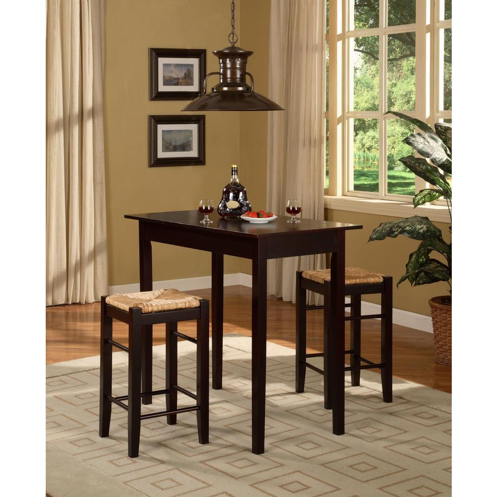 3 Piece Kitchen Table Set & In Current Tappahannock 3 Piece Counter Height Dining Sets (Image 4 of 20)