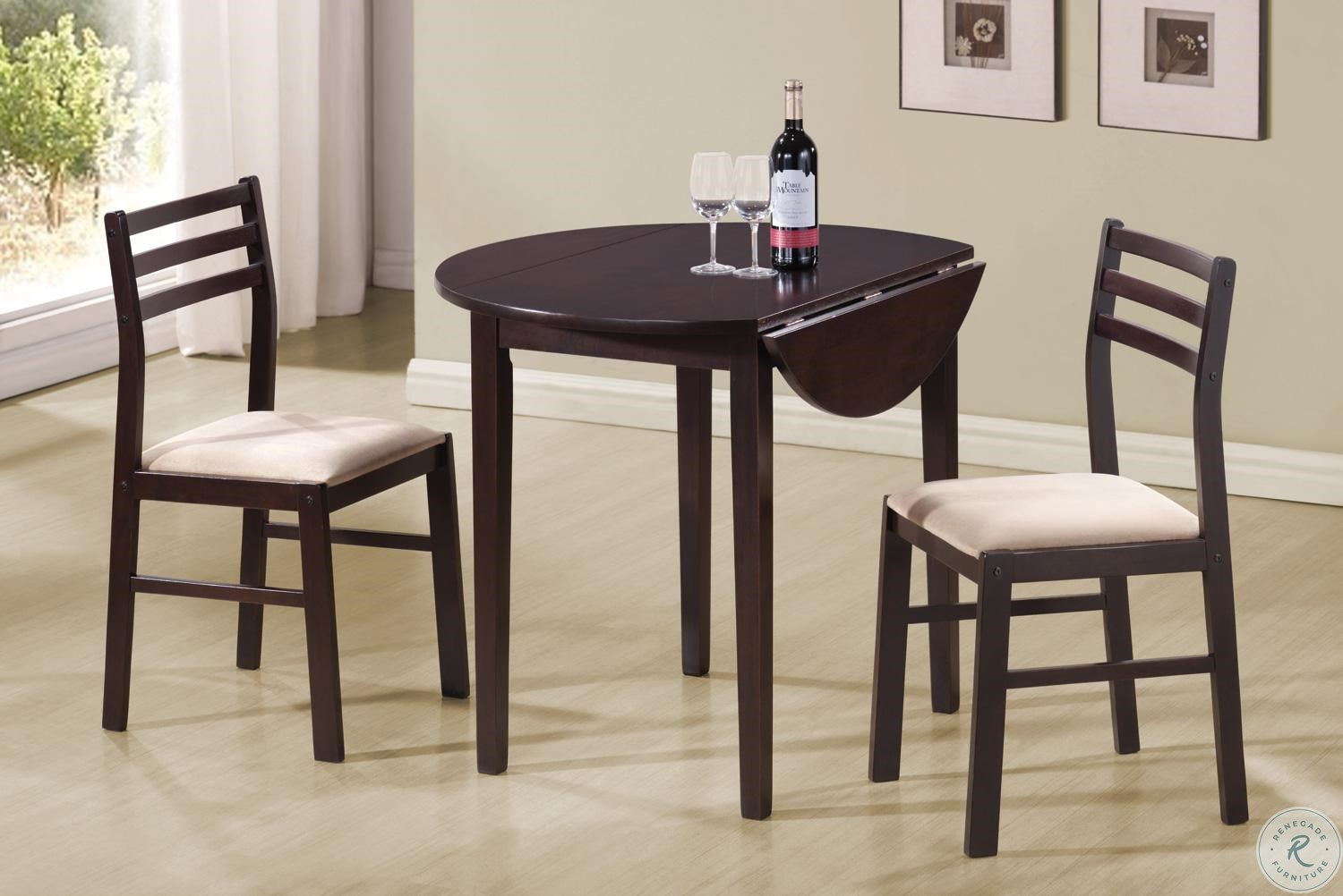 3 Piece Round Dining Table Set 130005 For Newest Ligon 3 Piece Breakfast Nook Dining Sets (Photo 20 of 20)