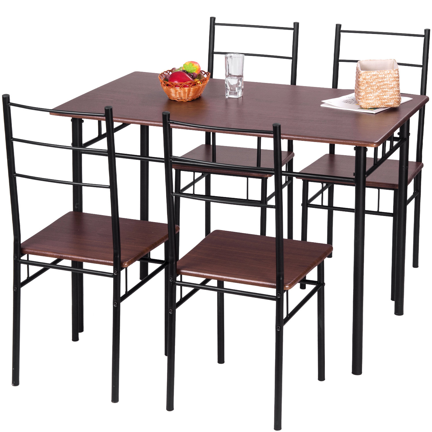 5 Piece Breakfast Nook Dining Set Regarding Most Recent Mulvey 5 Piece Dining Sets (View 13 of 20)