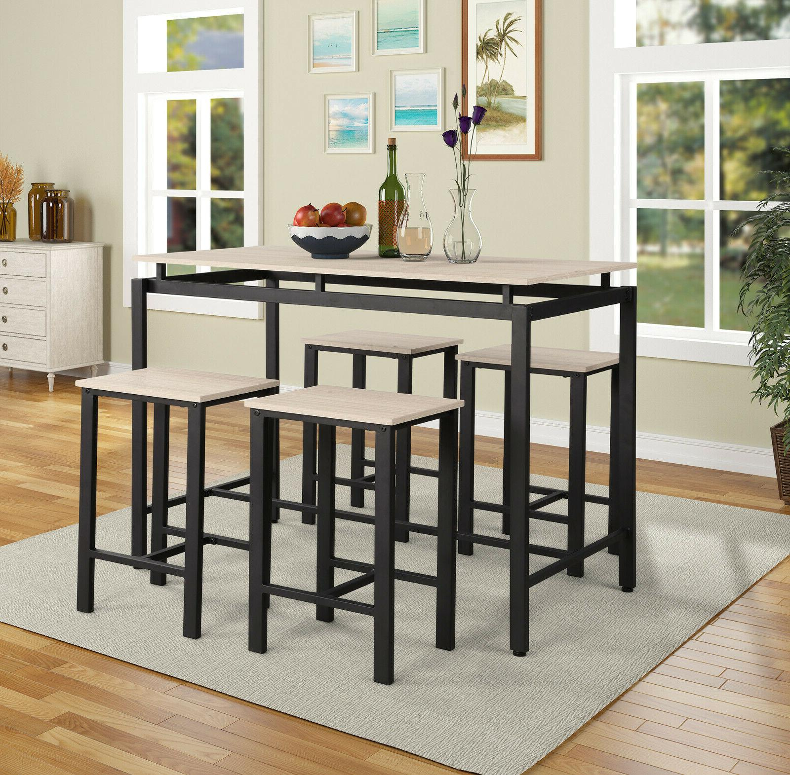 5 Piece Counter Height Table Set/dining Pertaining To Newest Noyes 5 Piece Dining Sets (View 18 of 20)