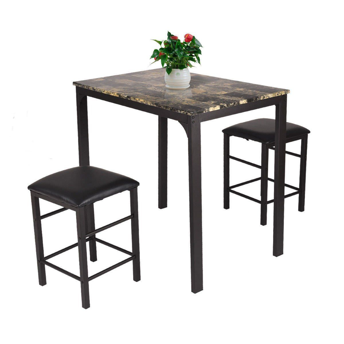 5 Piece Percie Industrial Counter Height Dining Set Oak/black Intended For Most Recently Released Kerley 4 Piece Dining Sets (Image 1 of 20)