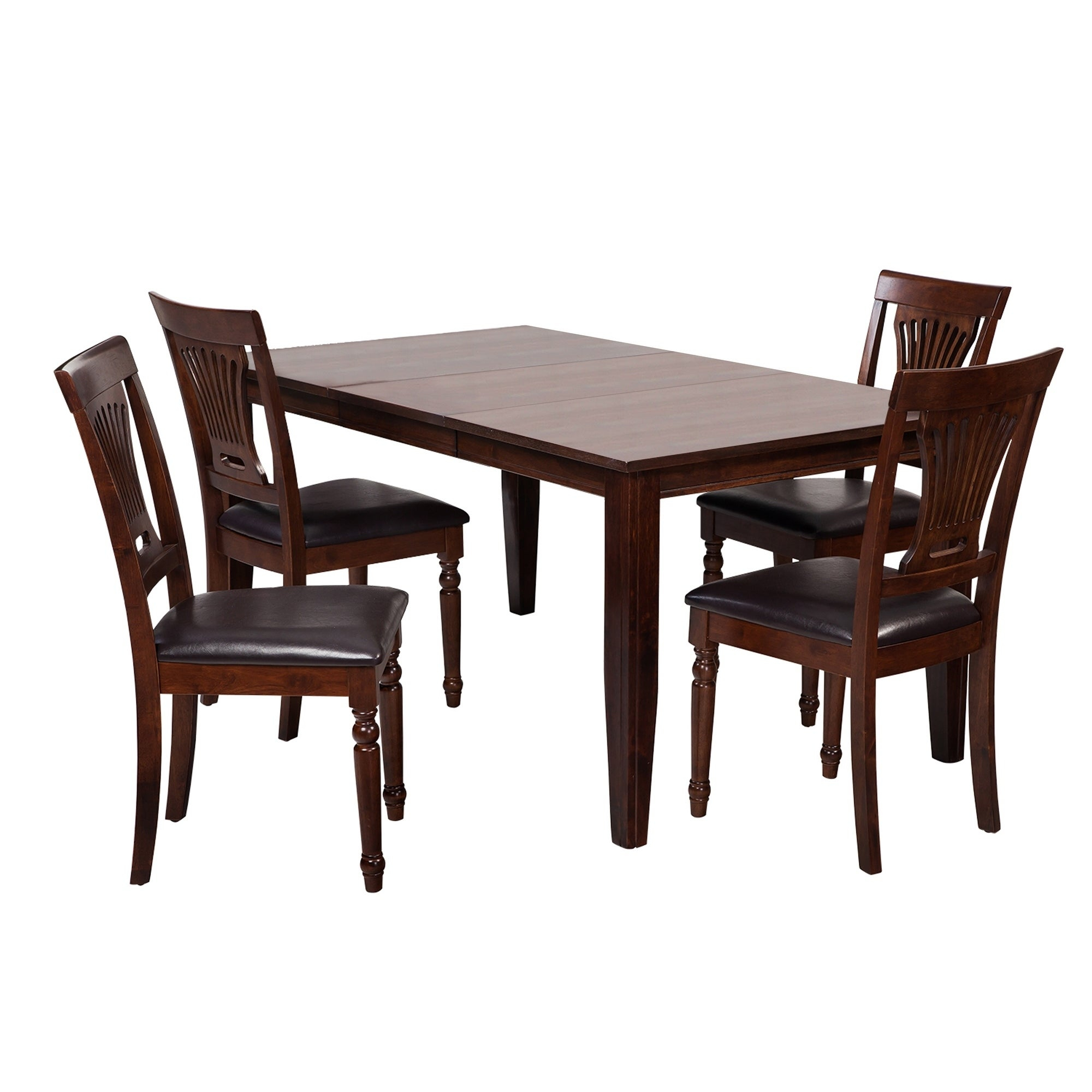 "5 Piece Solid Wood Dining Set ""aden"", Modern Kitchen Table Set, Espresso Inside Most Popular Adan 5 Piece Solid Wood Dining Sets (Set Of 5) (View 3 of 20)"