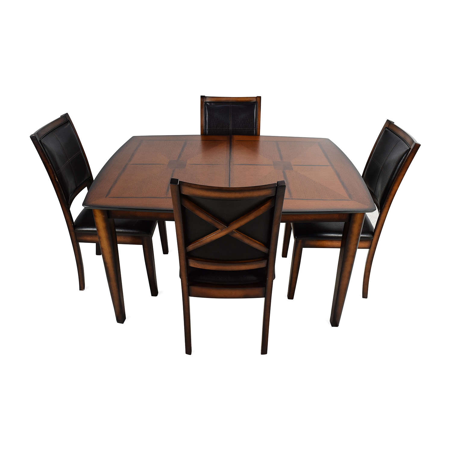 59% Off – Raymour & Flanigan Raymour & Flanigan Denver 5 Piece Extendable  Dining Set / Tables In Most Recent John 4 Piece Dining Sets (Image 2 of 20)