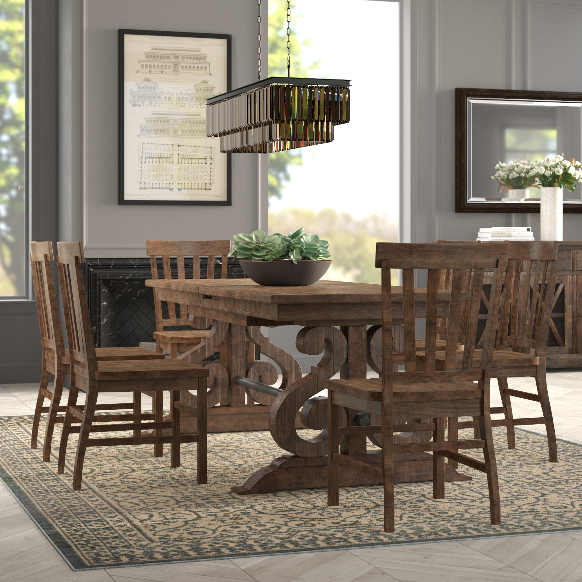 7 Piece Dining Set Within Current Queener 5 Piece Dining Sets (Photo 7 of 20)