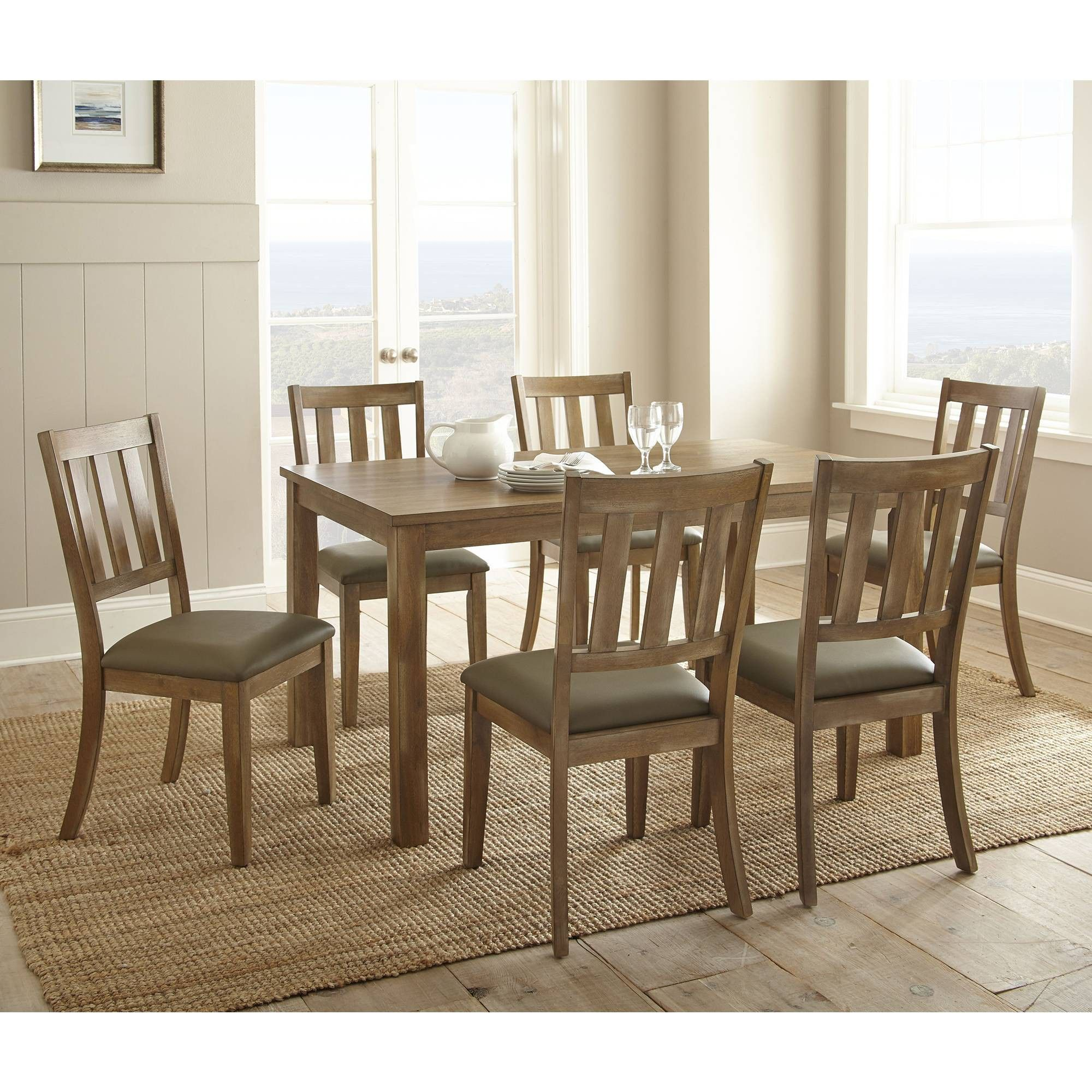 7Pc Ander Dining Set Washed Pine – Steve Silver In 2019 | Home Within Current Middleport 5 Piece Dining Sets (View 10 of 20)