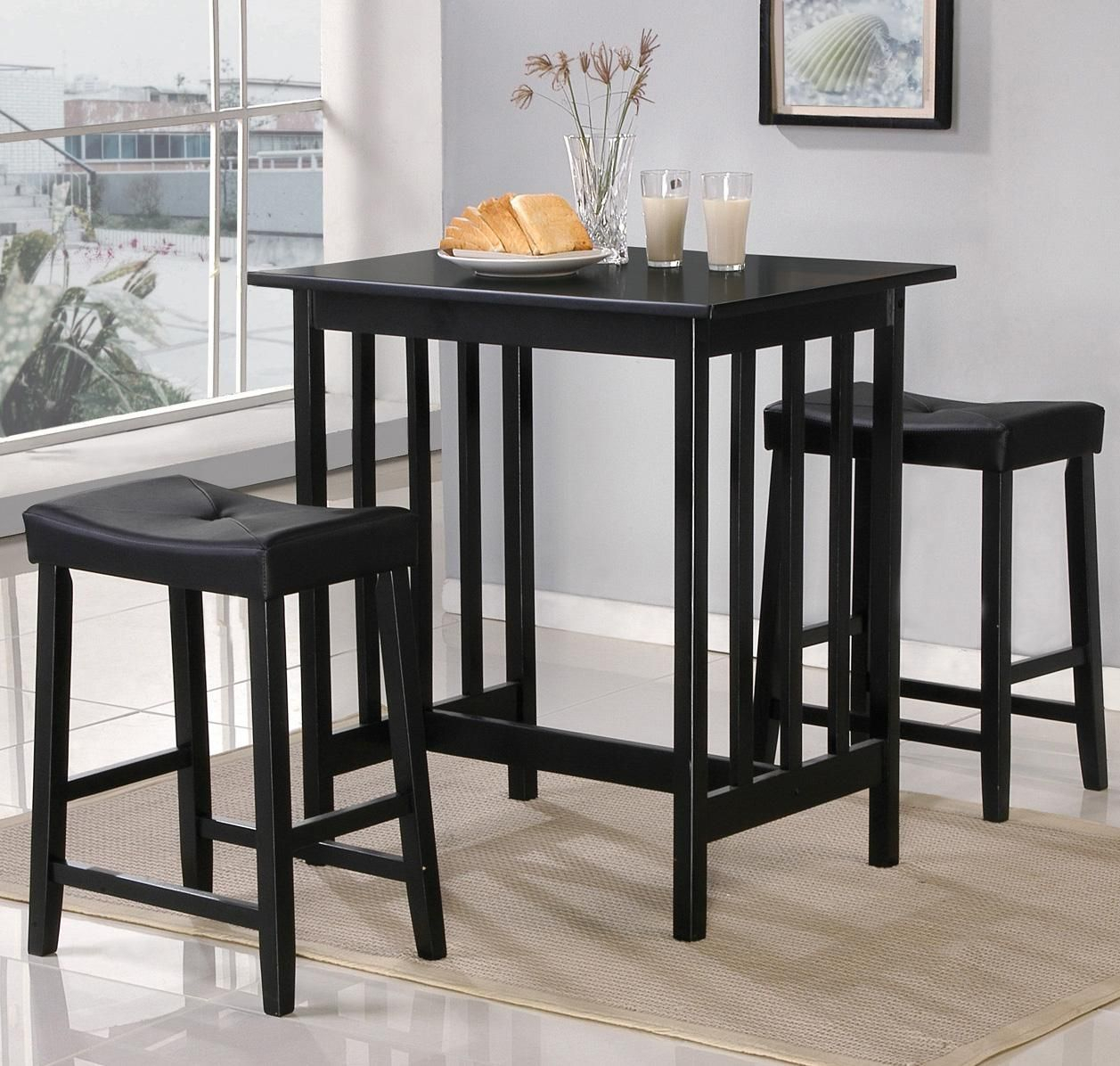 9399 3 Piece Counter Table And Stool Setworld Imports – Wolf Regarding Current Bettencourt 3 Piece Counter Height Dining Sets (View 13 of 20)
