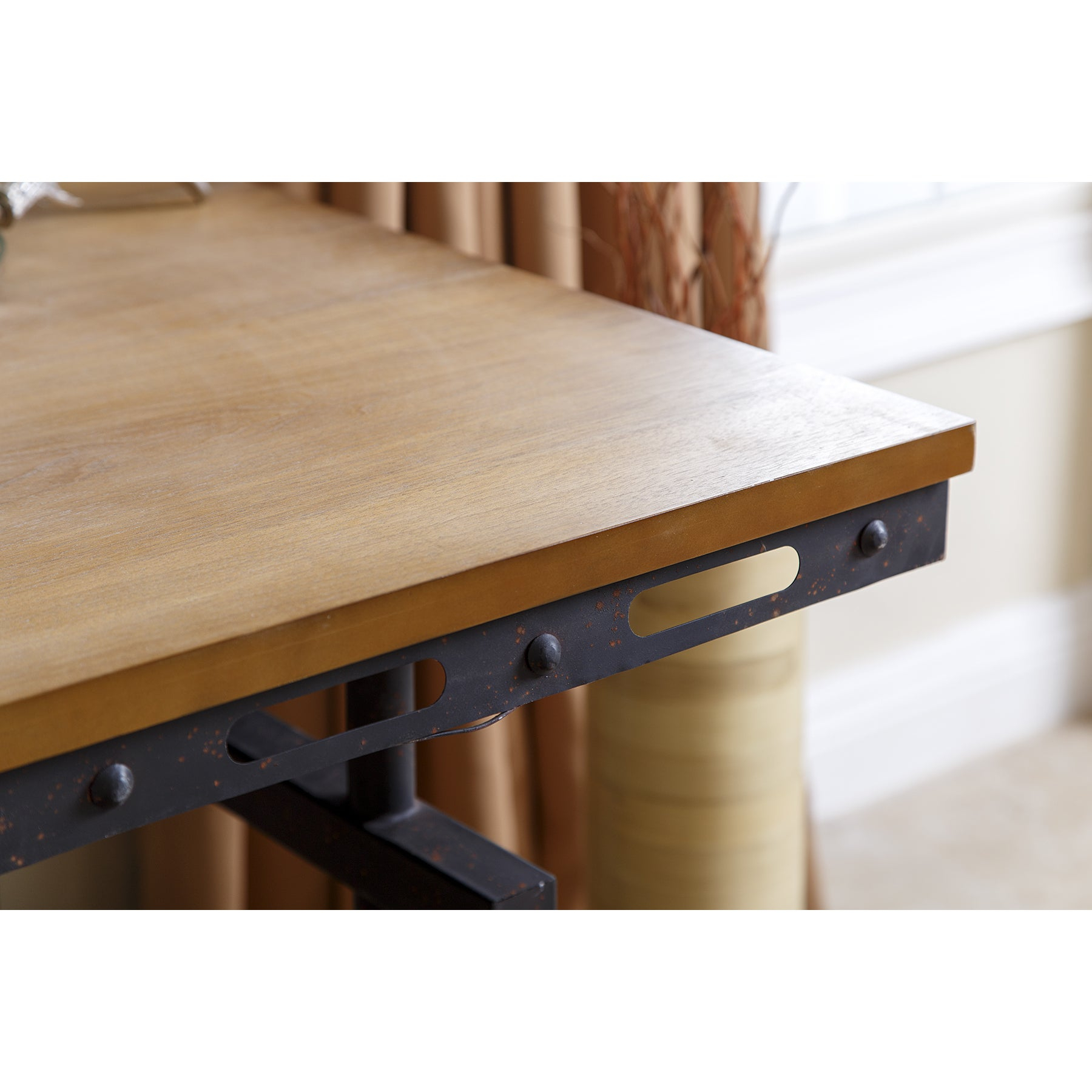 Abbyson Northwood Industrial Rustic Writing Desk Pertaining To Current Northwoods 3 Piece Dining Sets (Image 1 of 20)