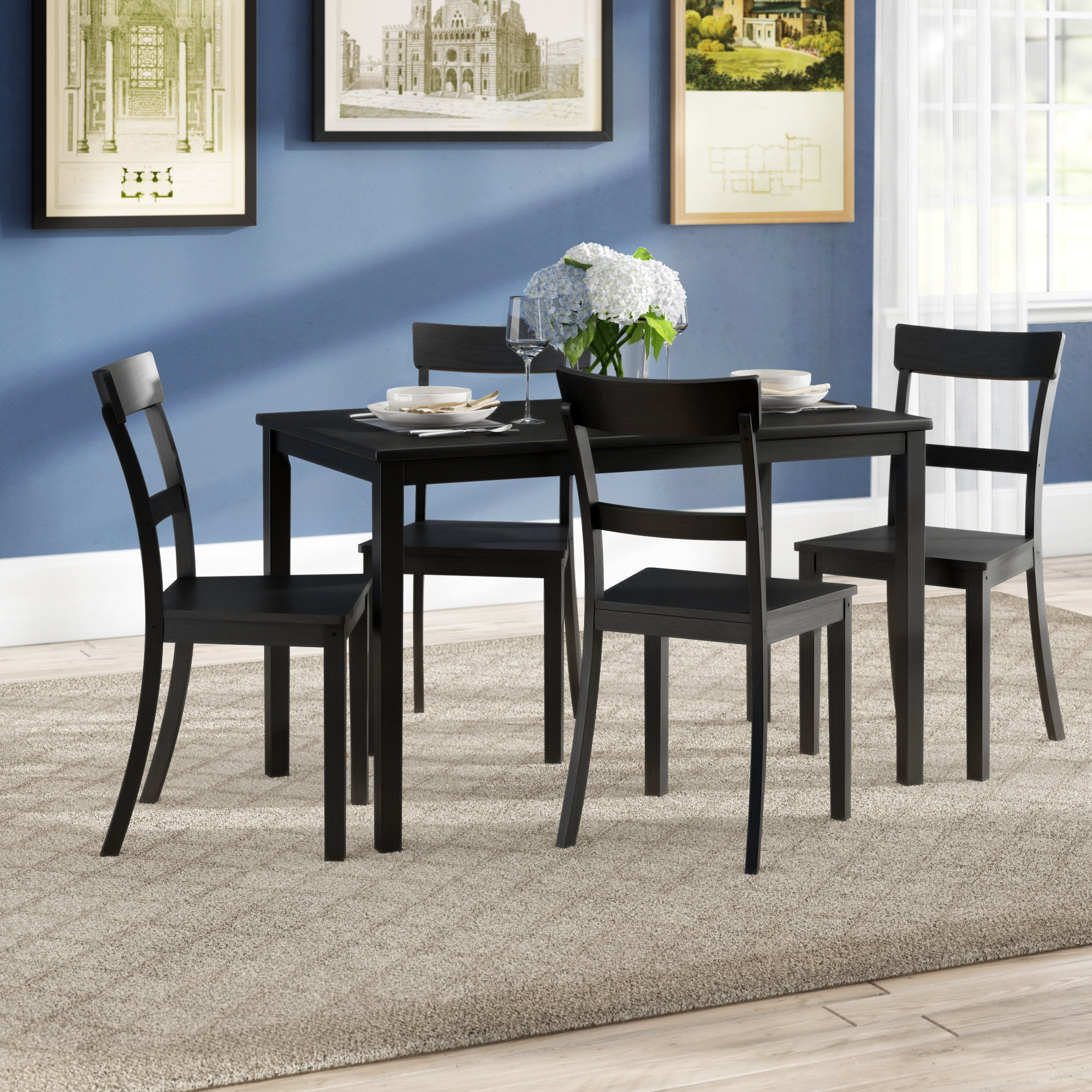 Ackworth 5 Piece Dining Set Pertaining To Most Current Sundberg 5 Piece Solid Wood Dining Sets (Image 1 of 20)
