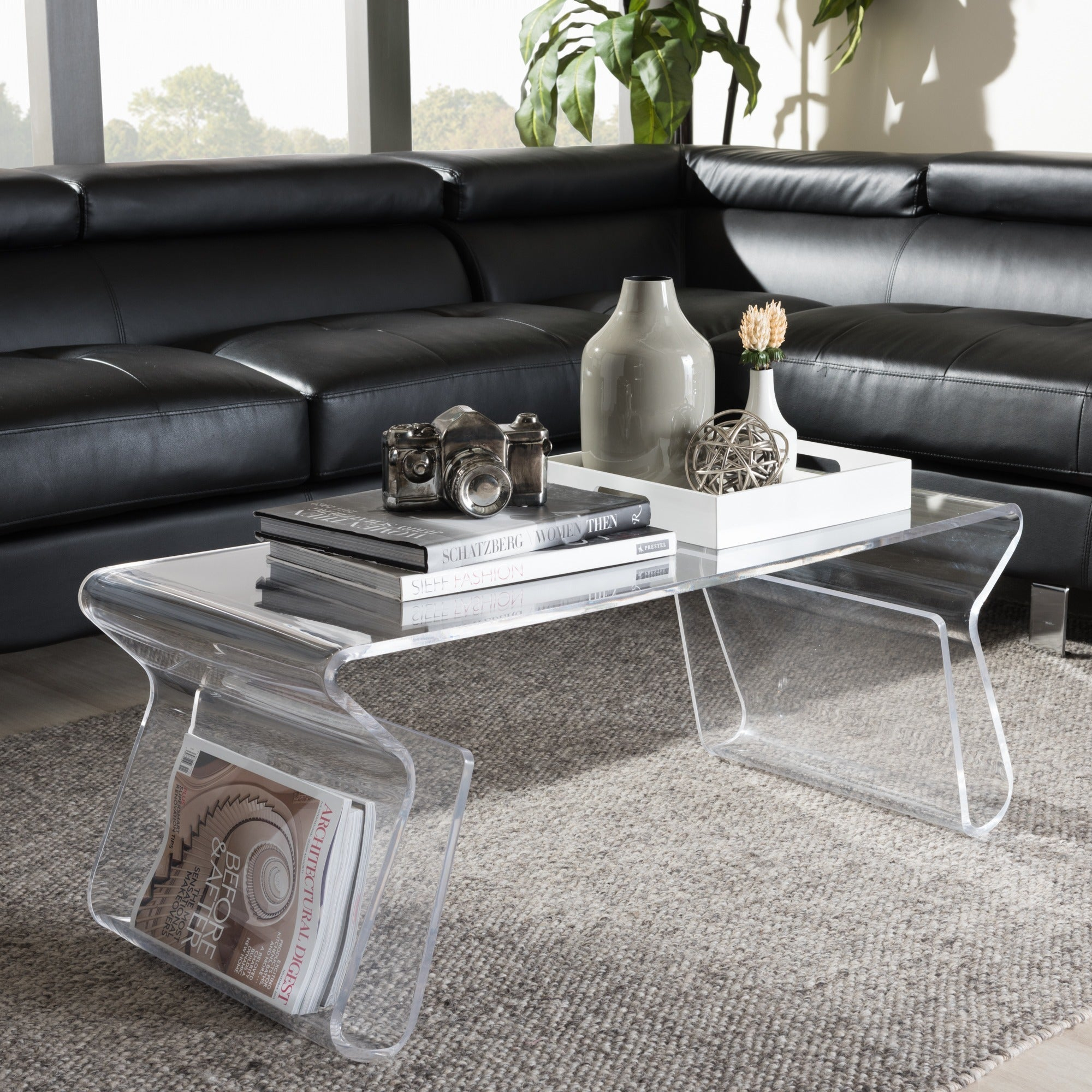 Adair Acrylic Coffee Table With Most Up To Date Presson 3 Piece Counter Height Dining Sets (Image 3 of 20)