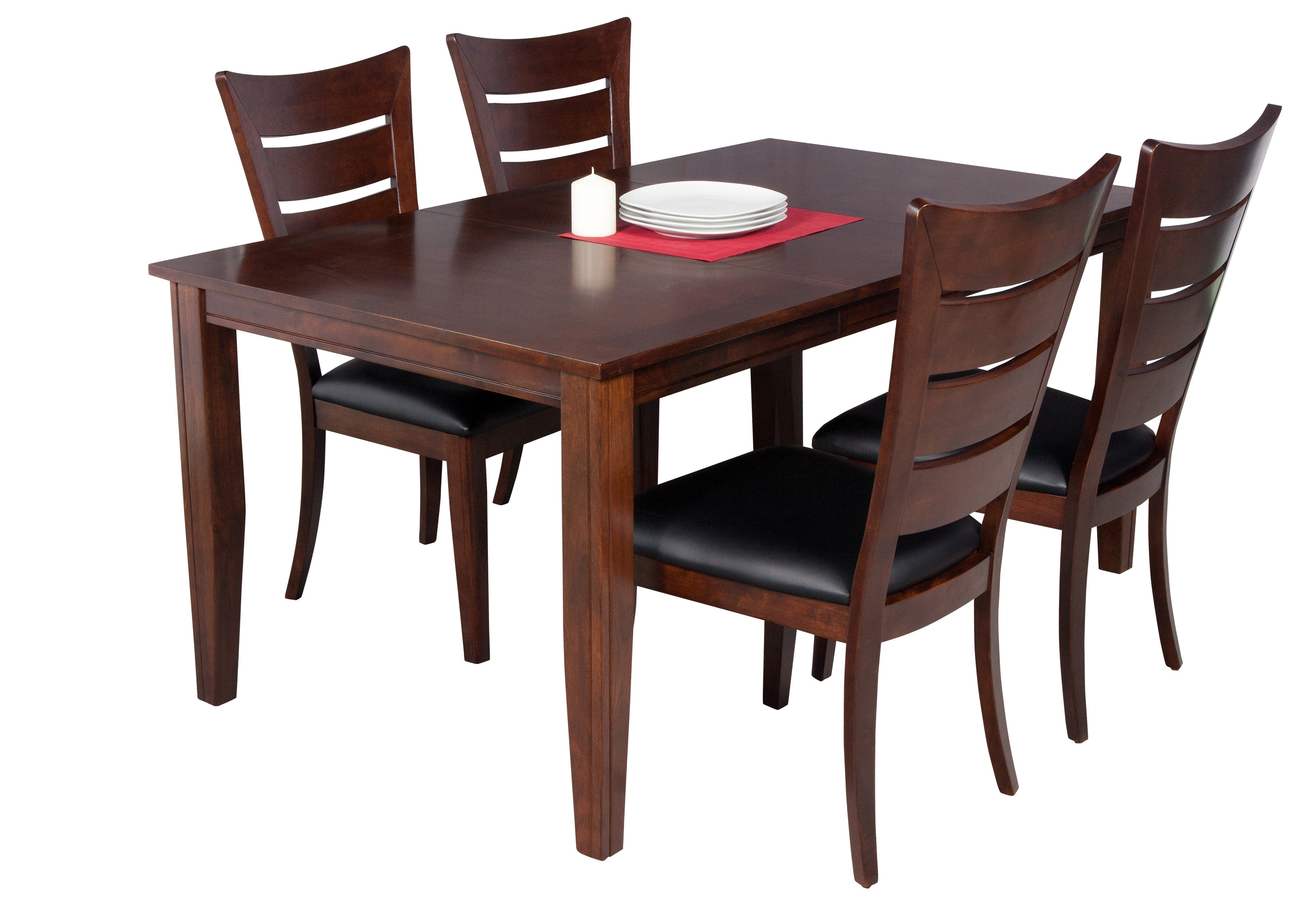 Aden 5 Piece Solid Wood Dining Set Pertaining To 2017 Adan 5 Piece Solid Wood Dining Sets (Set Of 5) (View 5 of 20)