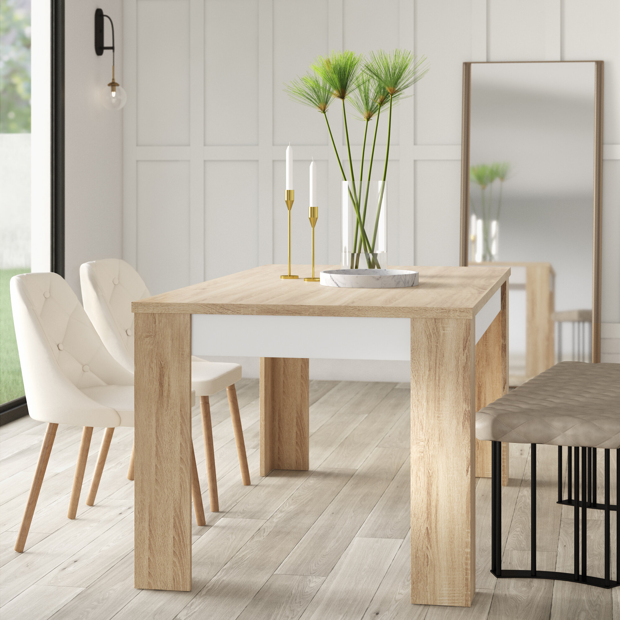 Algedi Dining Table In Newest Mukai 5 Piece Dining Sets (View 18 of 20)