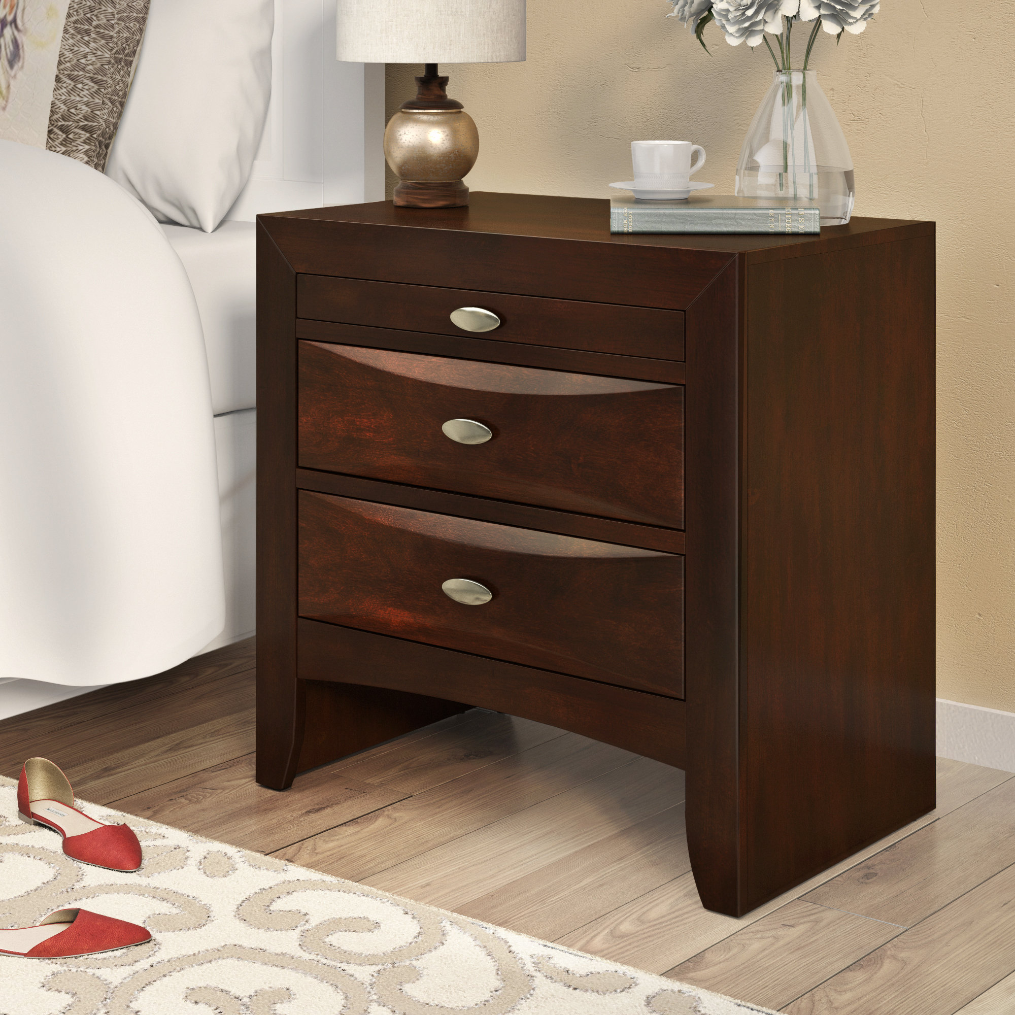 Alidge 3 Drawer Nightstand Pertaining To Current Kernville 3 Piece Counter Height Dining Sets (Image 1 of 20)