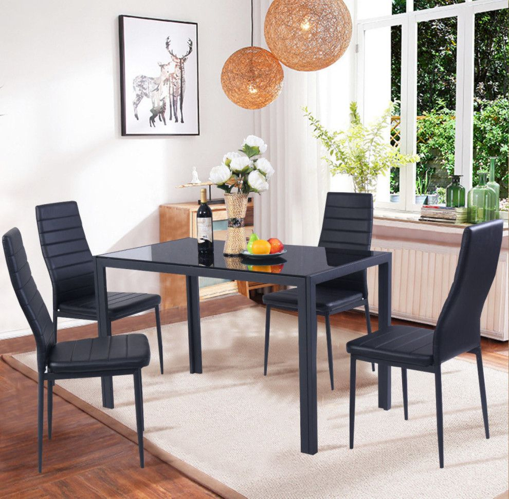 All The Best Deals On Jet Today | Apartment | Kitchen Table Chairs Throughout Newest Ephraim 5 Piece Dining Sets (View 13 of 20)