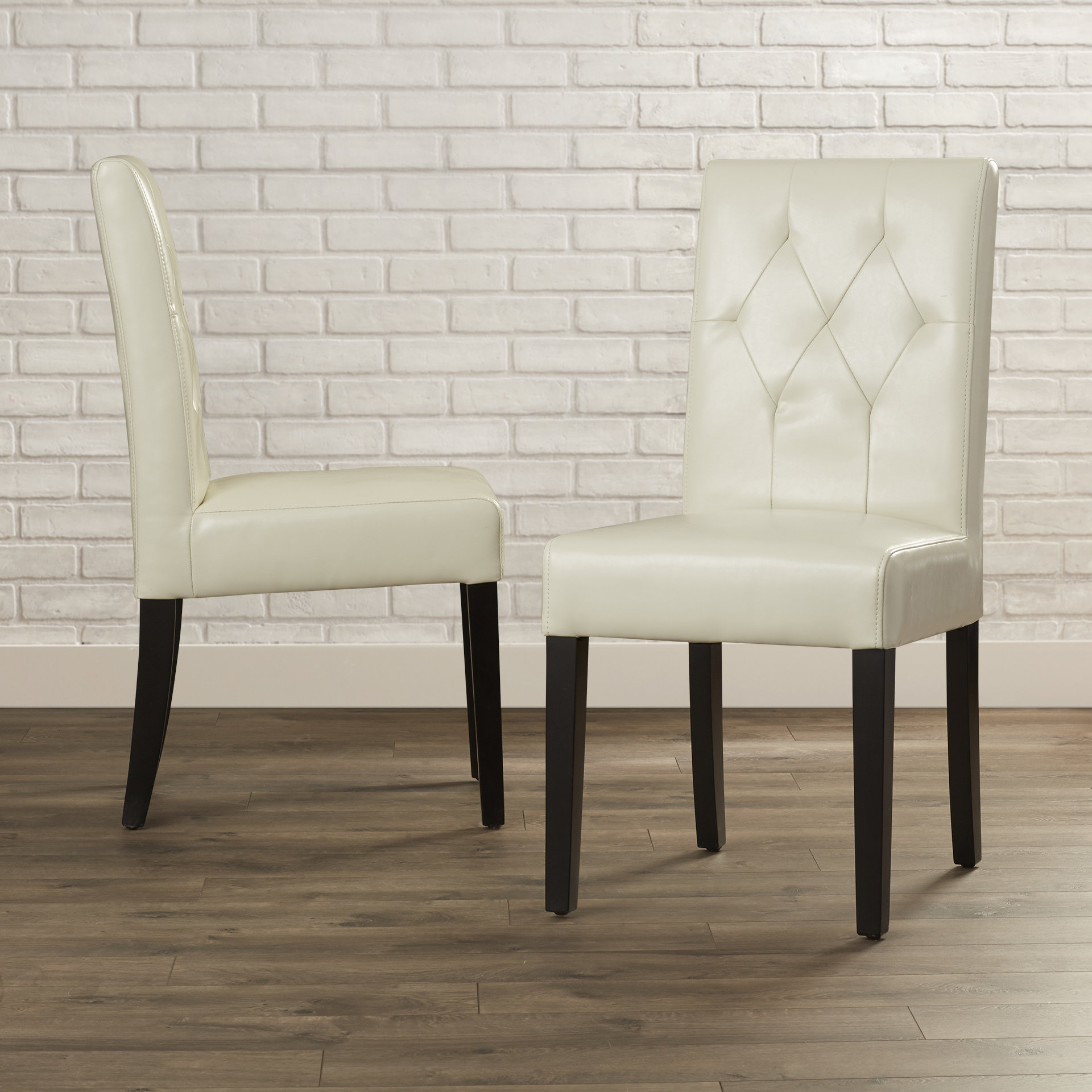Allegany Bonded Leather Upholstered Dining Chair Within Most Current Reinert 5 Piece Dining Sets (View 14 of 20)