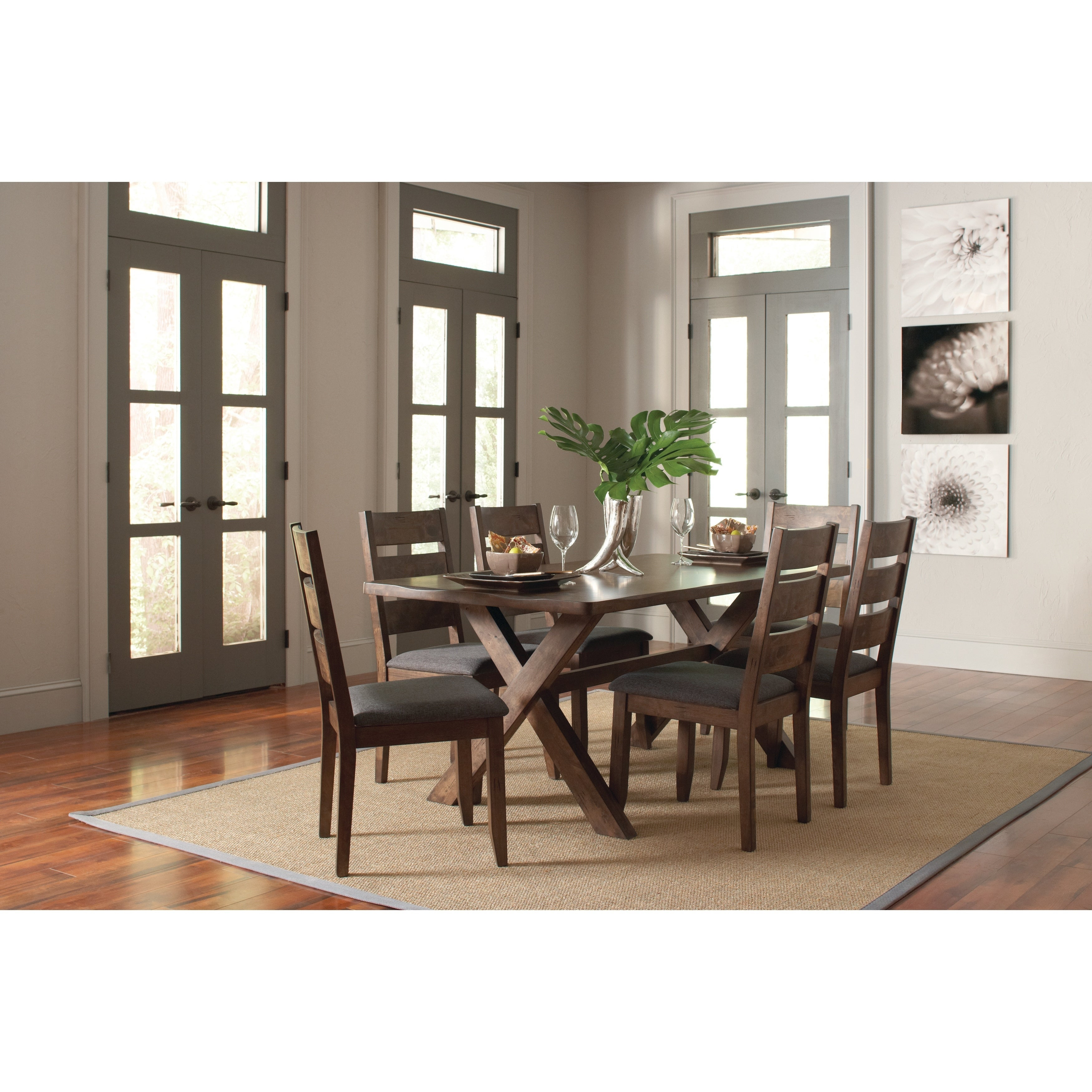 Alston Rustic Knotty Nutmeg Dining Table – Brown Within 2018 Cincinnati 3 Piece Dining Sets (View 14 of 20)