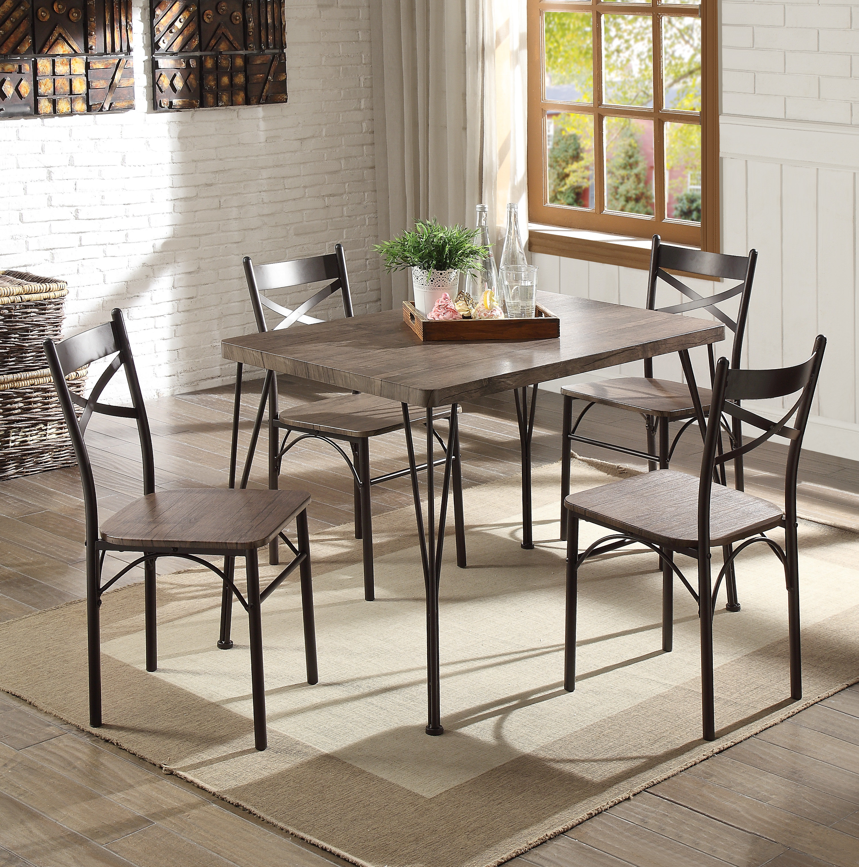Andover Mills Middleport 5 Piece Dining Set Intended For Most Popular Middleport 5 Piece Dining Sets (Photo 2 of 20)