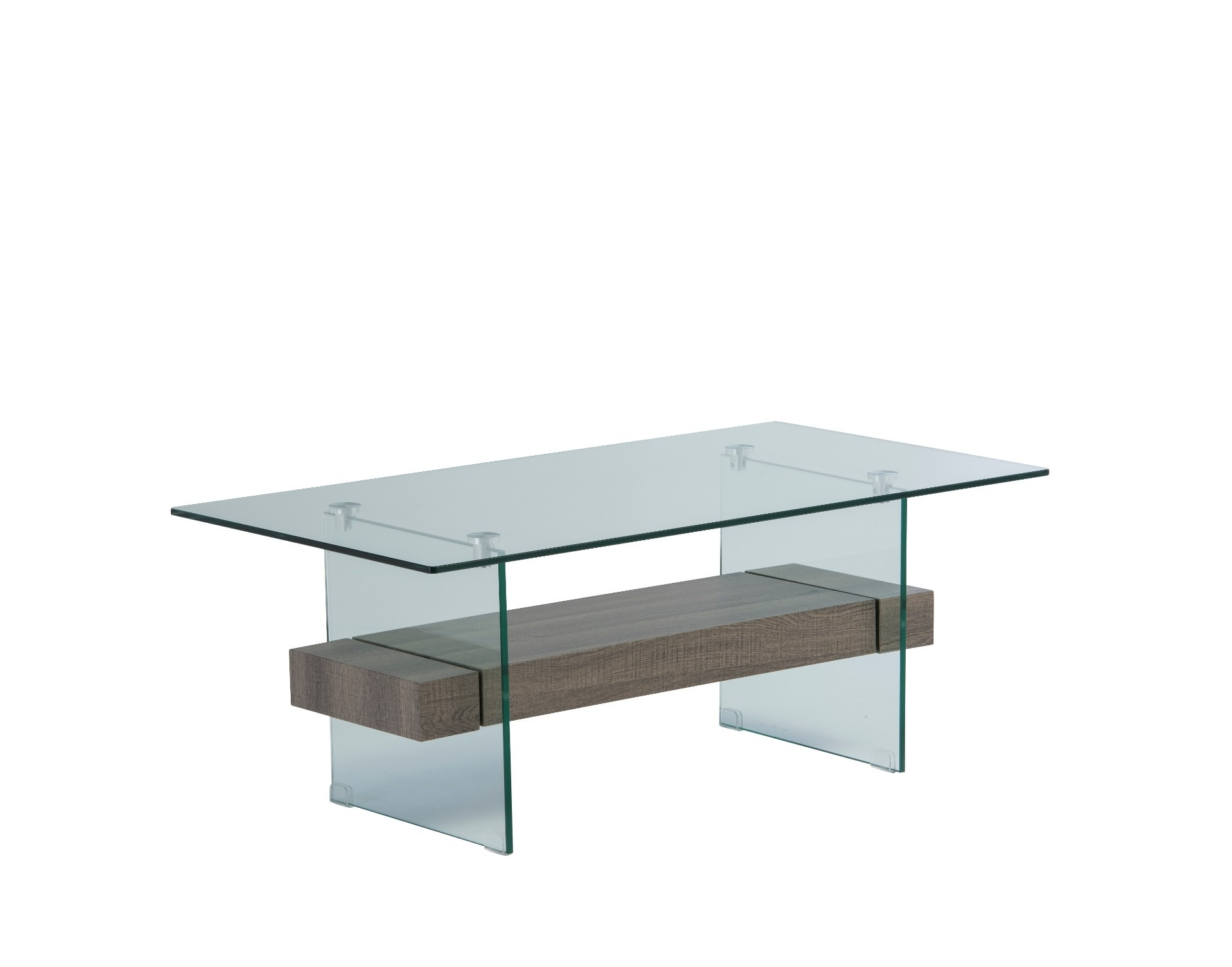Aria Glass Coffee Table In Grey Oak Finish With Most Up To Date Aria 5 Piece Dining Sets (View 20 of 20)