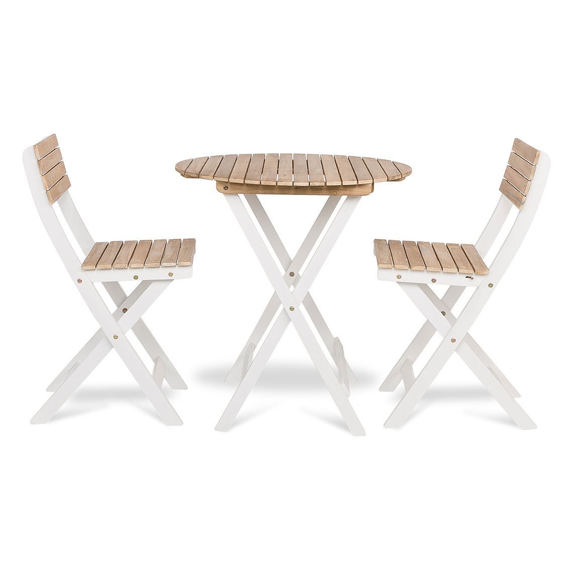 Atlantic 3 Piece Outdoor Dining Set, Acacia Wood Pertaining To Most Up To Date Bedfo 3 Piece Dining Sets (View 16 of 20)