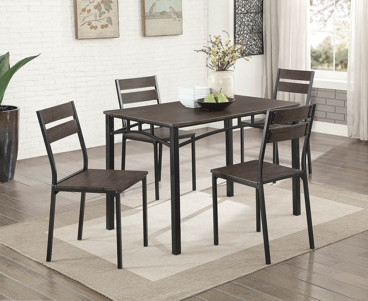 Autberry 5 Piece Dining Set With Regard To Most Current Isolde 3 Piece Dining Sets (Image 1 of 20)