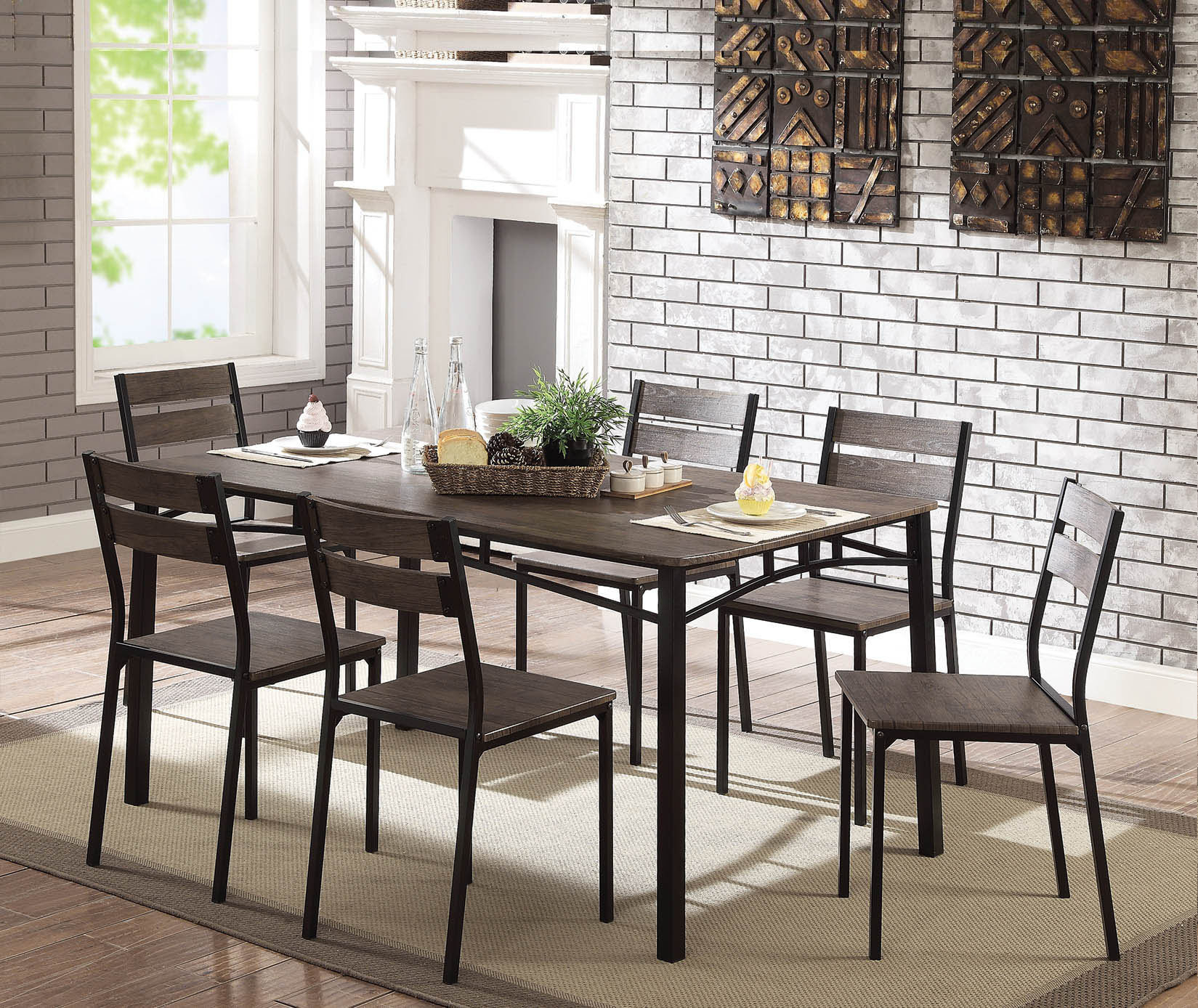 Autberry 7 Piece Dining Set Pertaining To 2018 Autberry 5 Piece Dining Sets (Image 4 of 20)