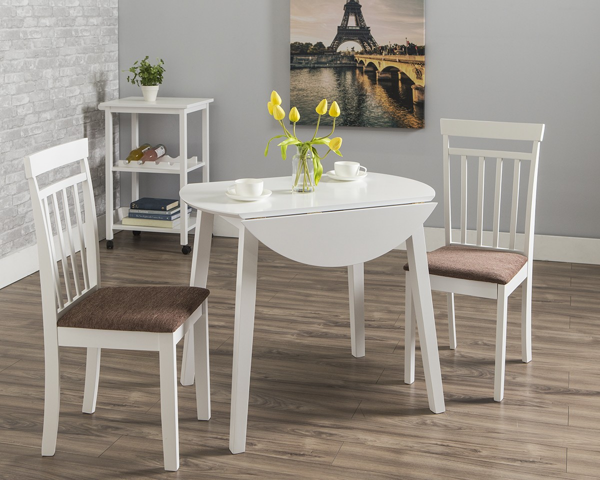 Axel Dining Table + 2 Axel Chairs | Dining Room Sets | Dining Room Regarding 2017 West Hill Family Table 3 Piece Dining Sets (View 4 of 20)